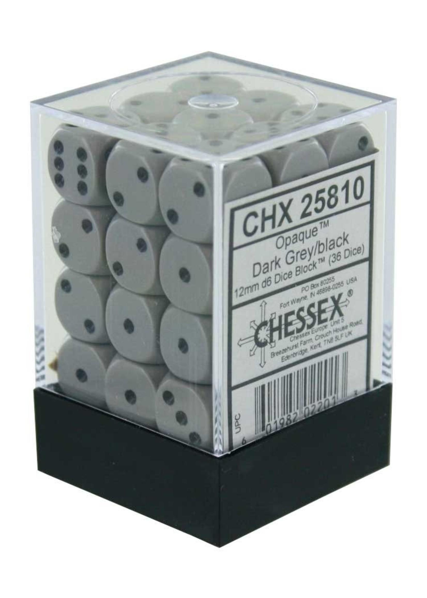 CHX 25810 Dice Dark Grey/Black