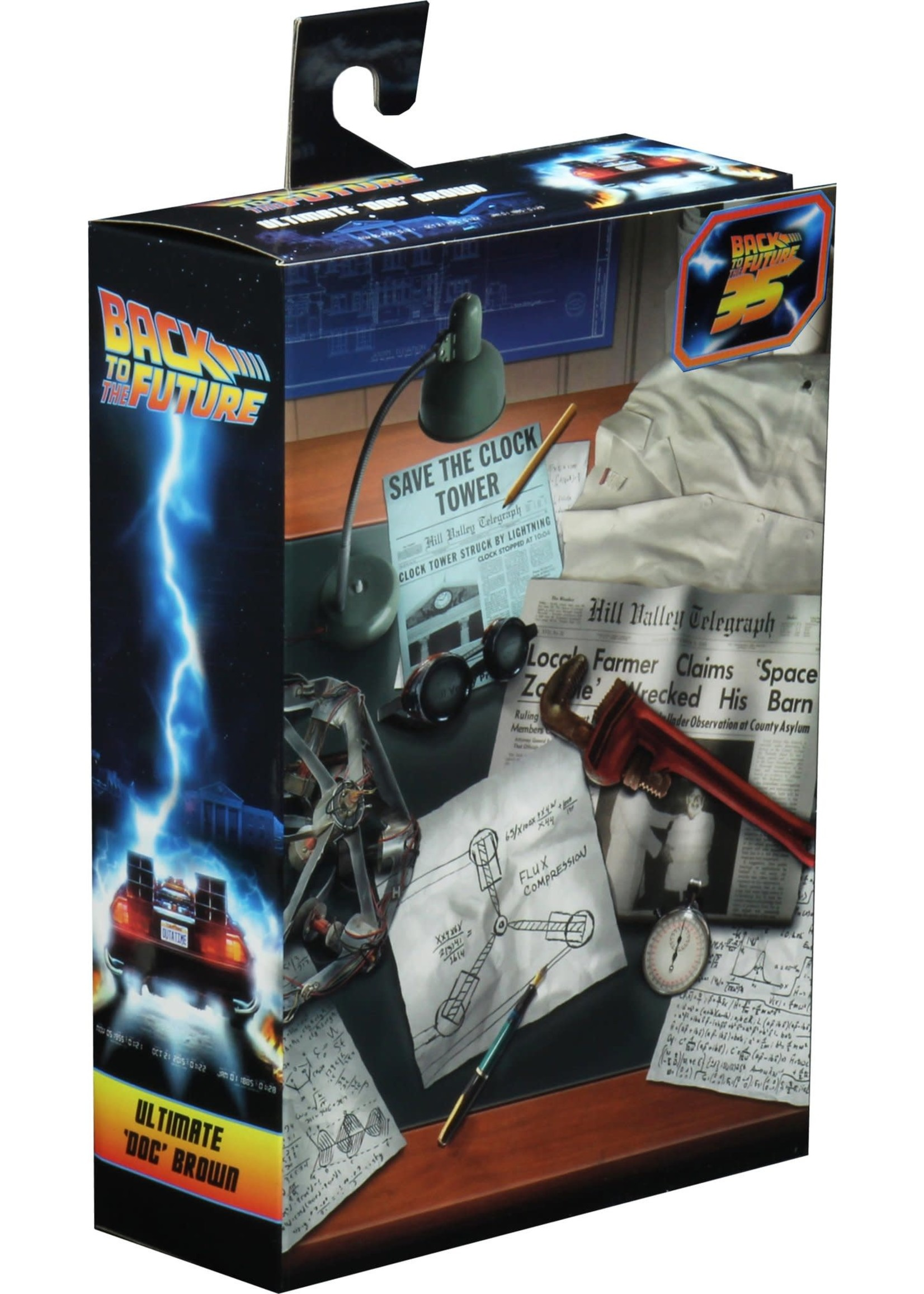 """Neca BACK TO THE FUTURE ULTIMATE DOC BROWN FIG 7"""""""