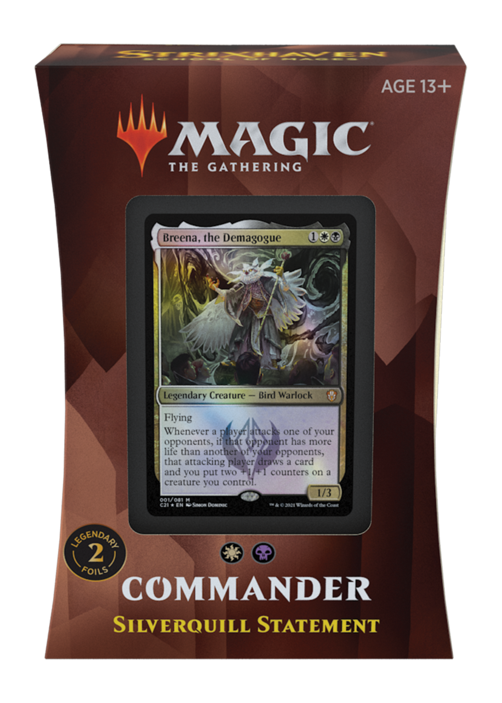 Wizards of the Coast Magic The Gathering Commander Silverquill Statement