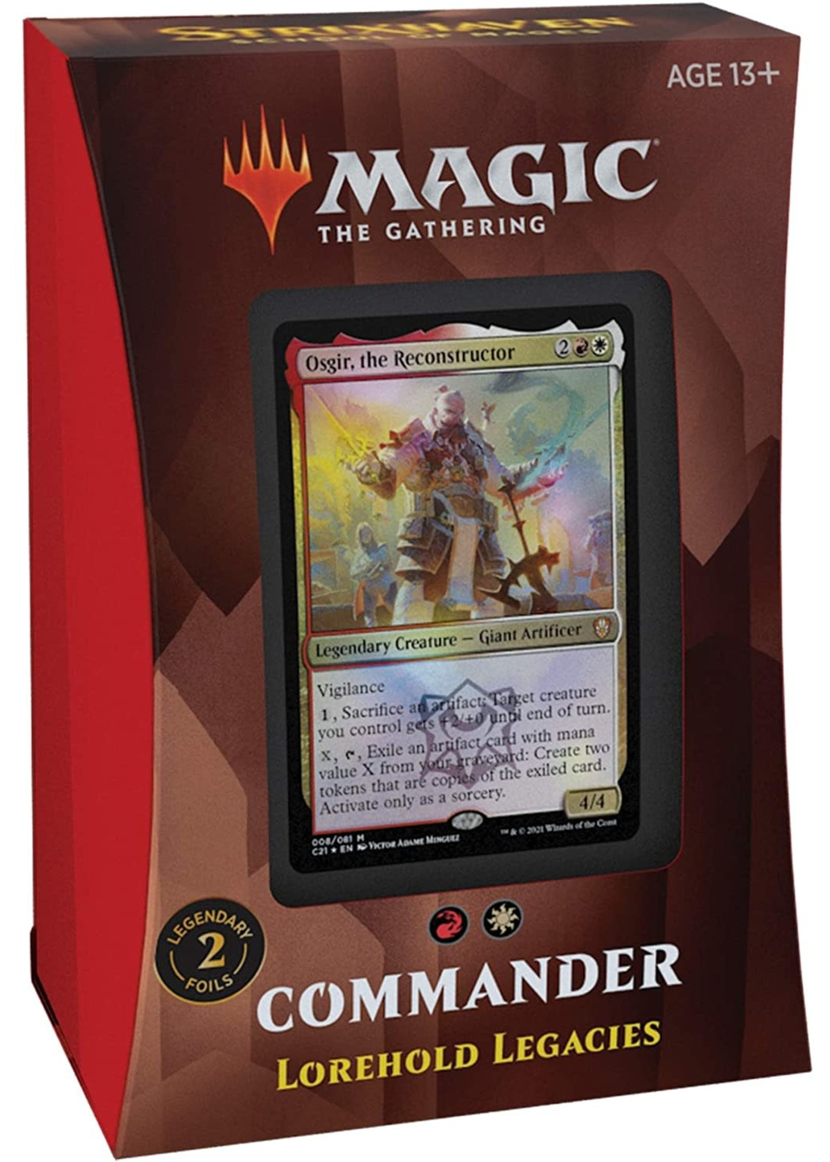 Wizards of the Coast Magic The Gathering Commander Lorehold Legacies
