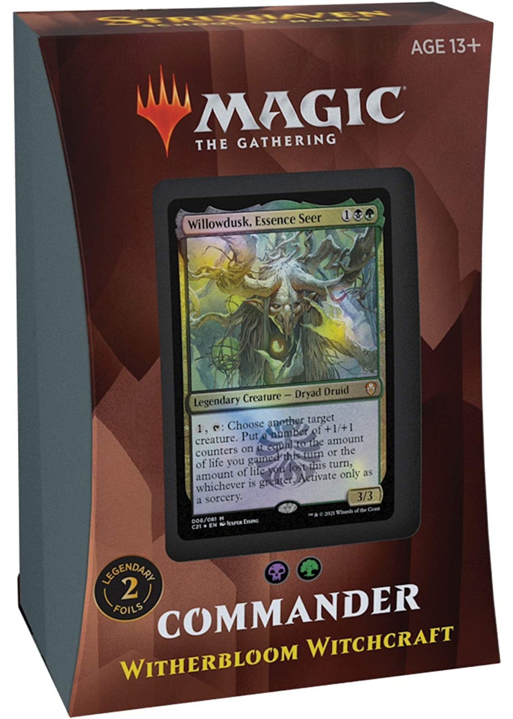 Wizards of the Coast Magic The Gathering Commander Wither Bloom Witchcraft