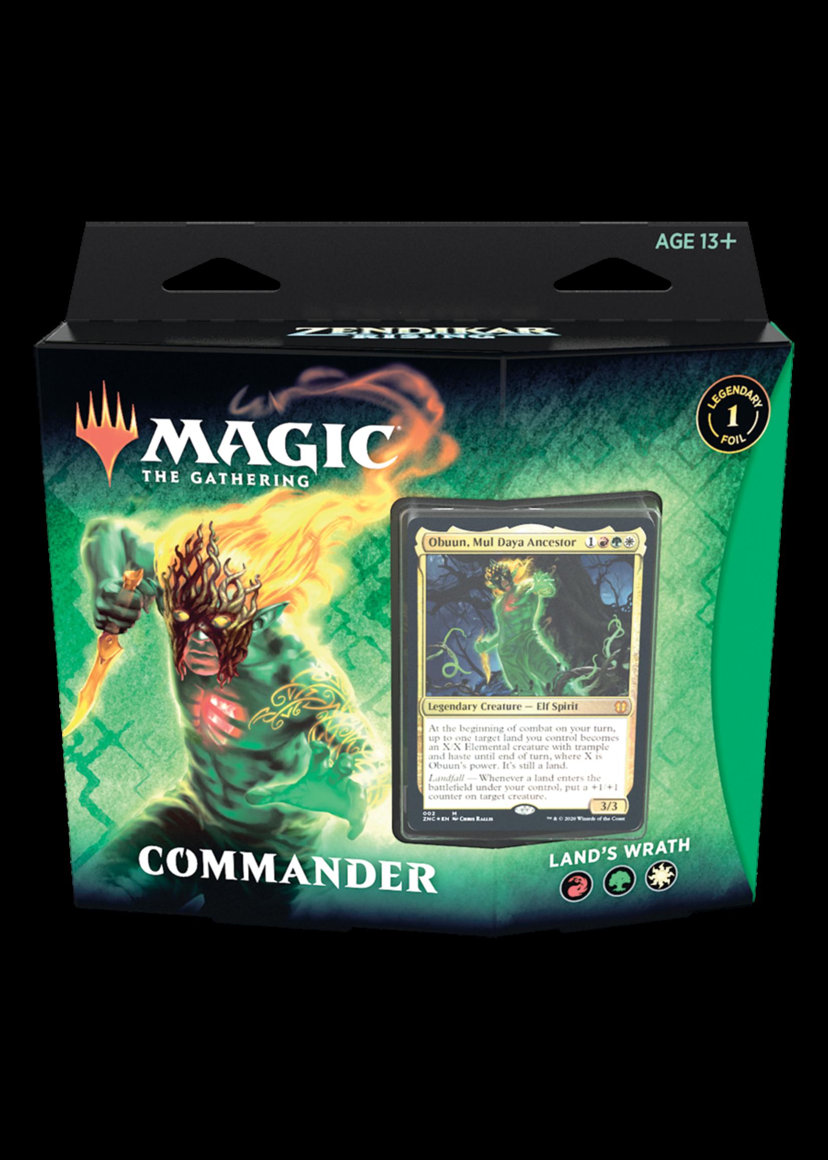 Wizards of the Coast Magic The Gathering Zendikar Rising Commander Land's Wrath