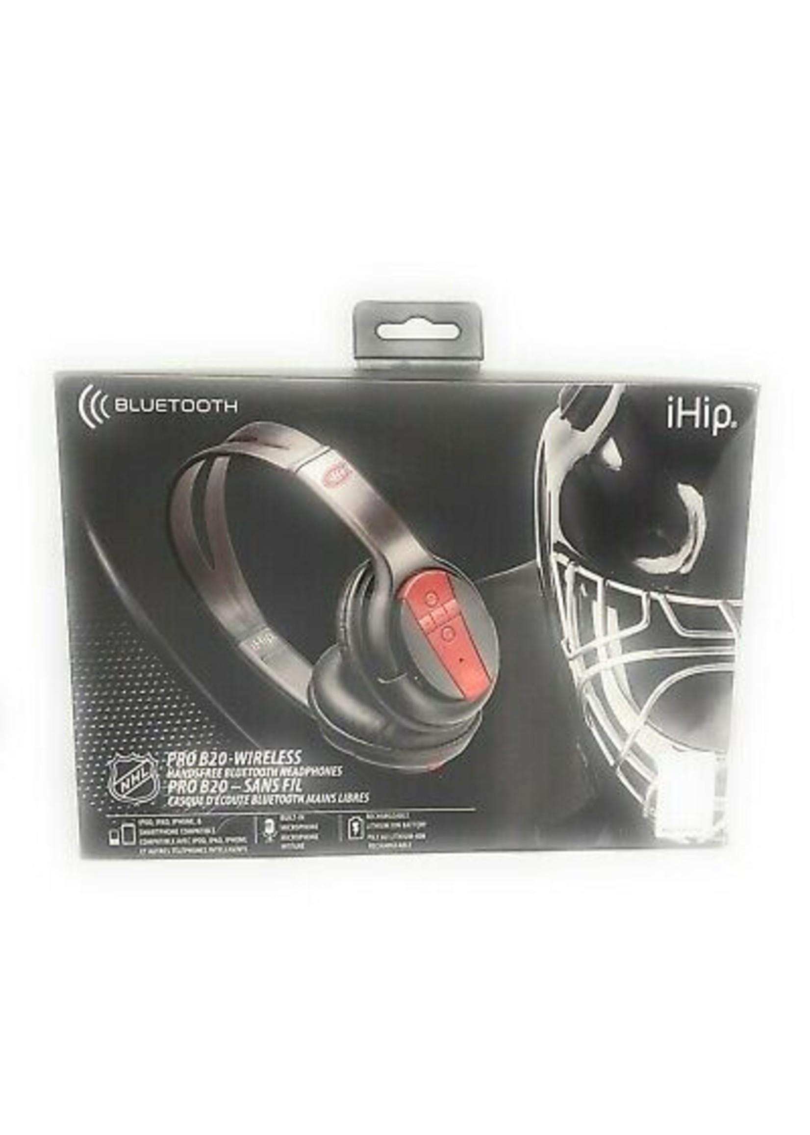 IHip Bluetooth Pro B20 Wireless Headphones Canadiens