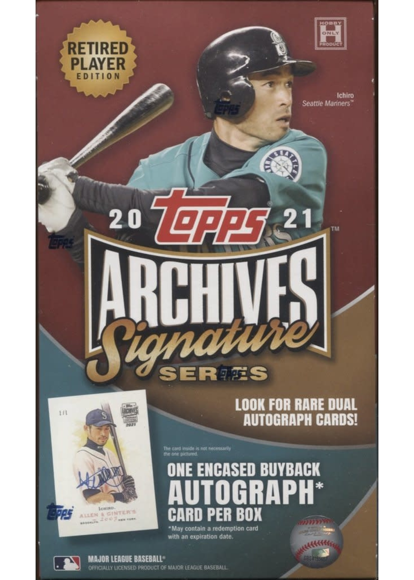 Topps 2021 TOPPS ARCHIVE SIGNATURE SERIES  BASEBALL RETIRED PLAYERS