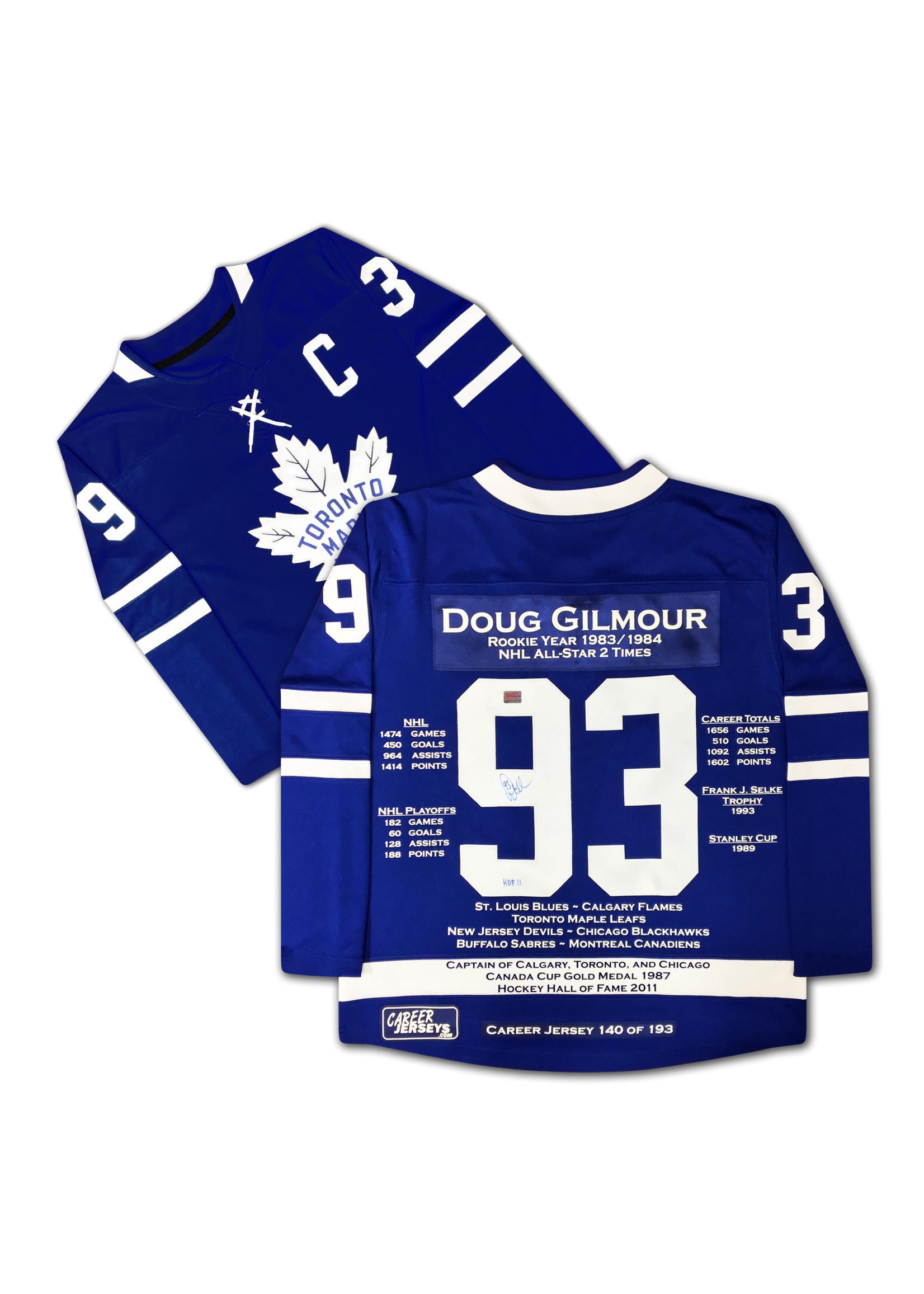 Doug Gilmour Career Jersey - Autographed - LTD ED 193 - Toronto Maple Leafs
