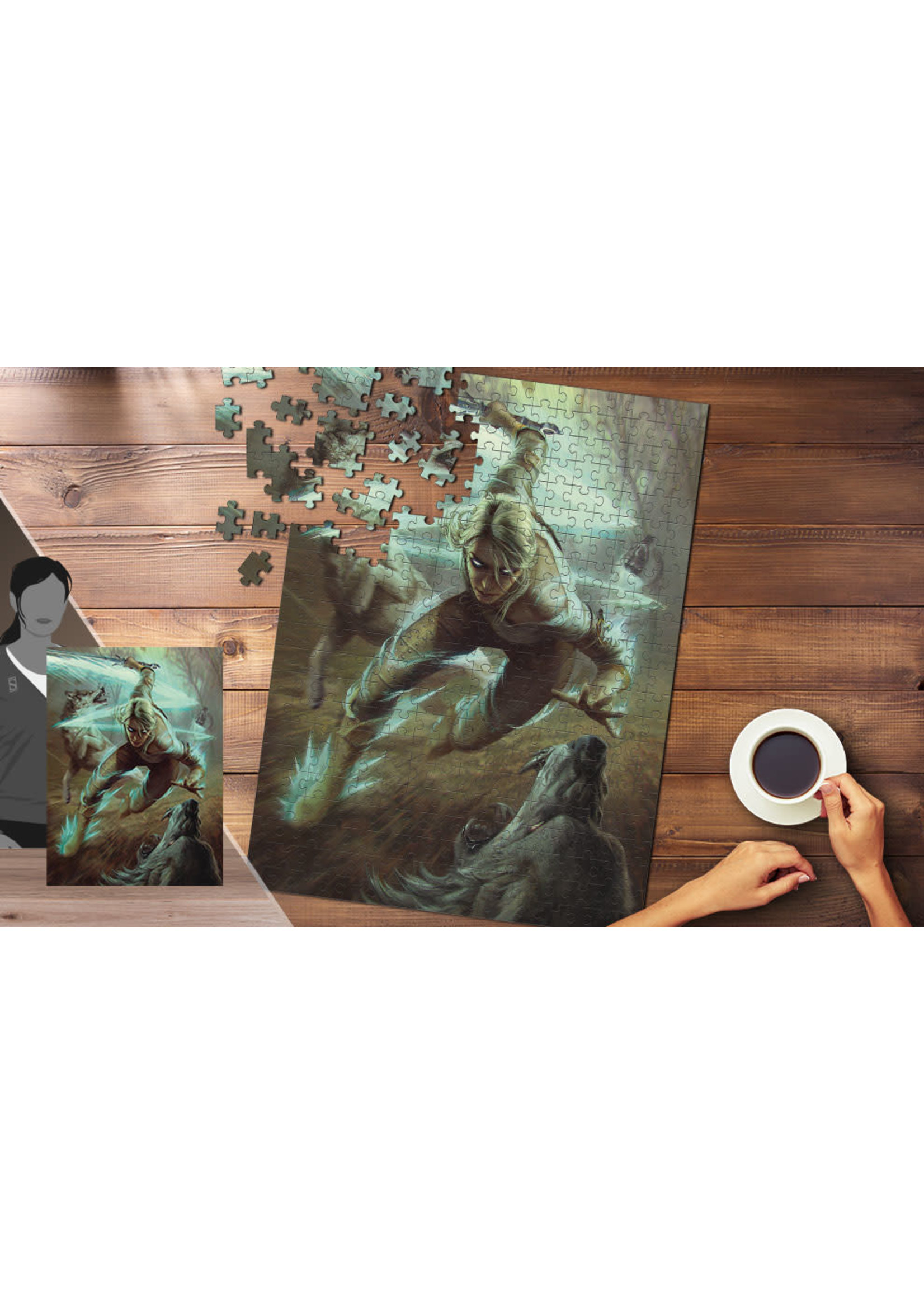 The Witcher Wild hunt 1000 Pcs Puzzle Ciri And The Wolves