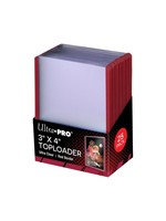 """Ultra Pro 3""""x4"""" Toploader Ultra Clear Red Border"""