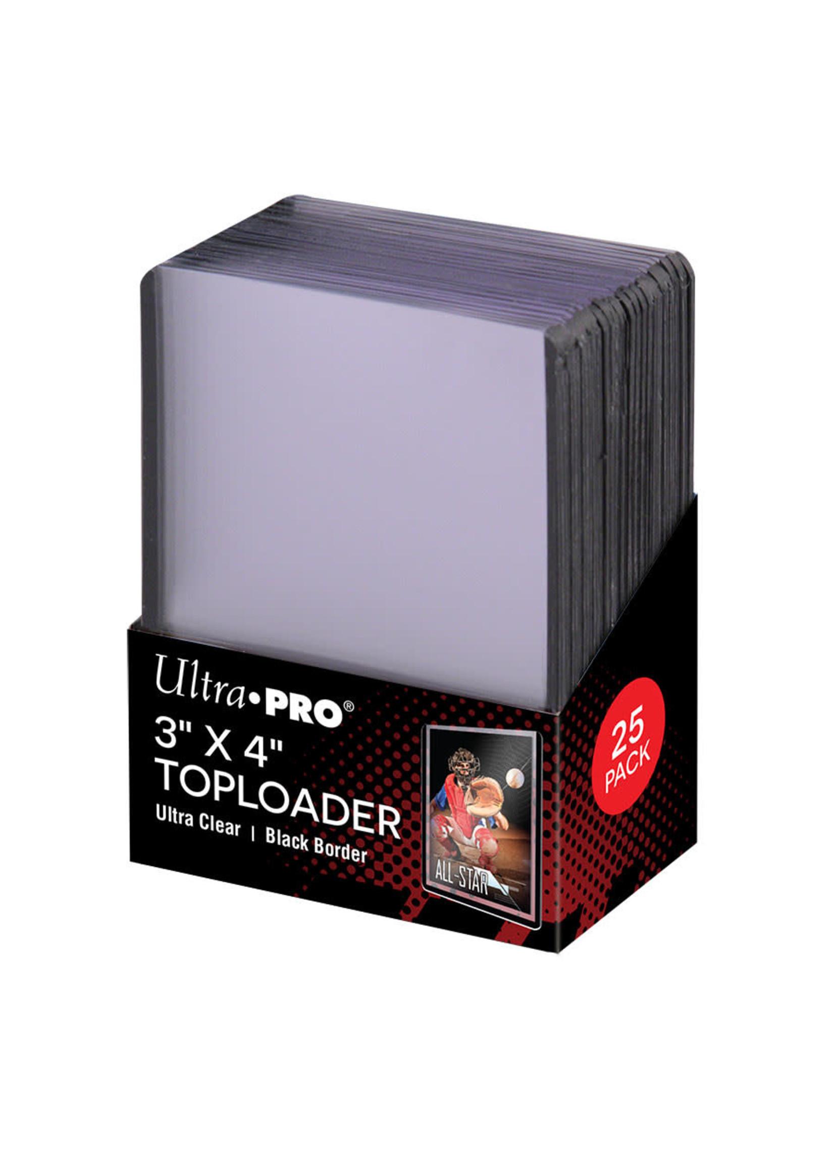 Ultra Pro Toploader 3X4 Black Border