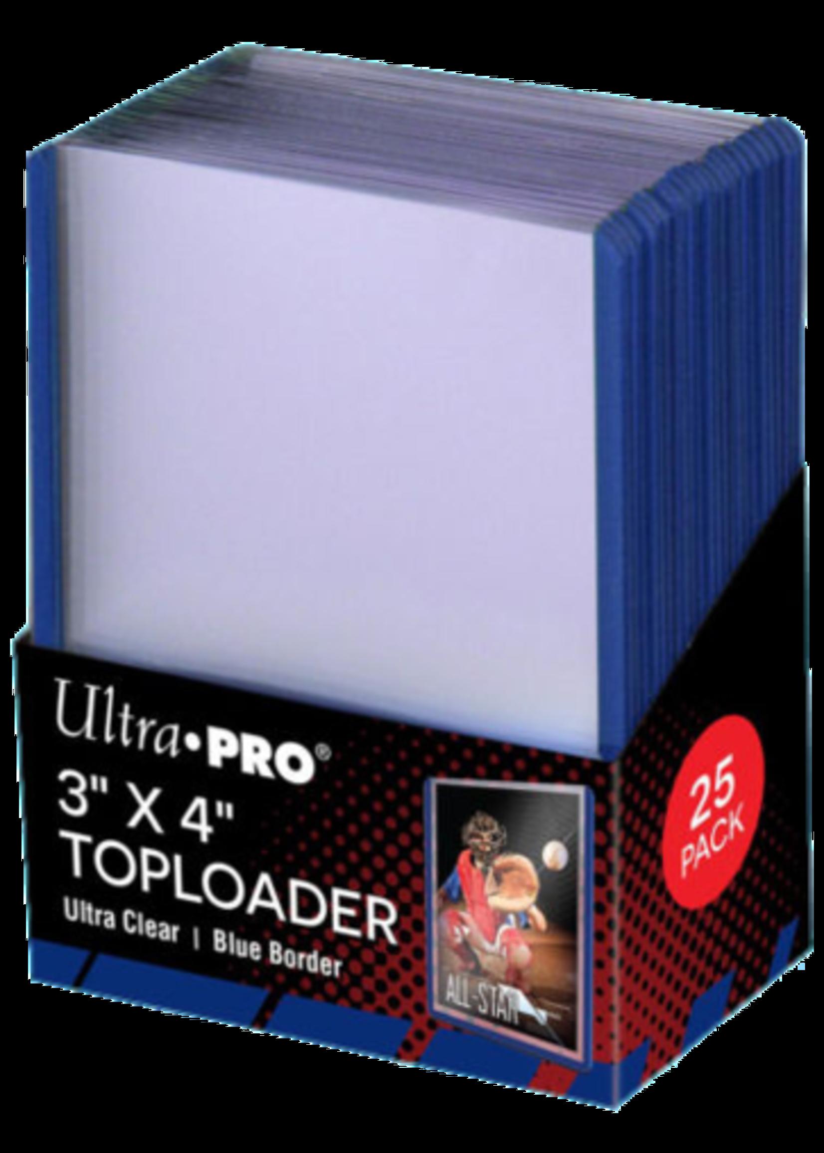 Ultra Pro Toploader 3X4 Blue Border
