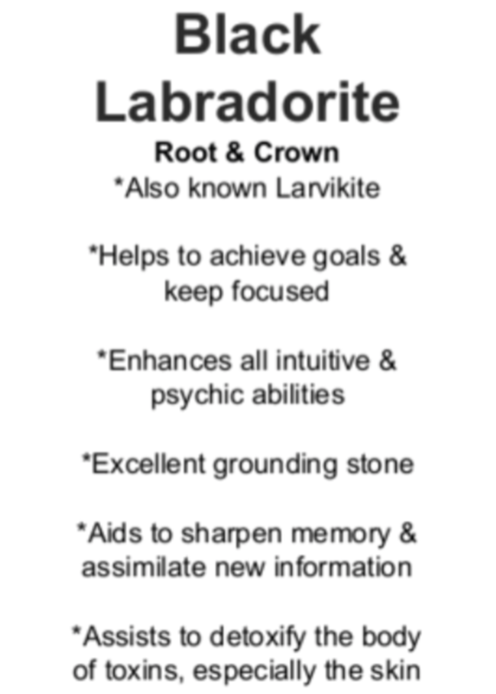 Black Labradorite Cards - Box of 250