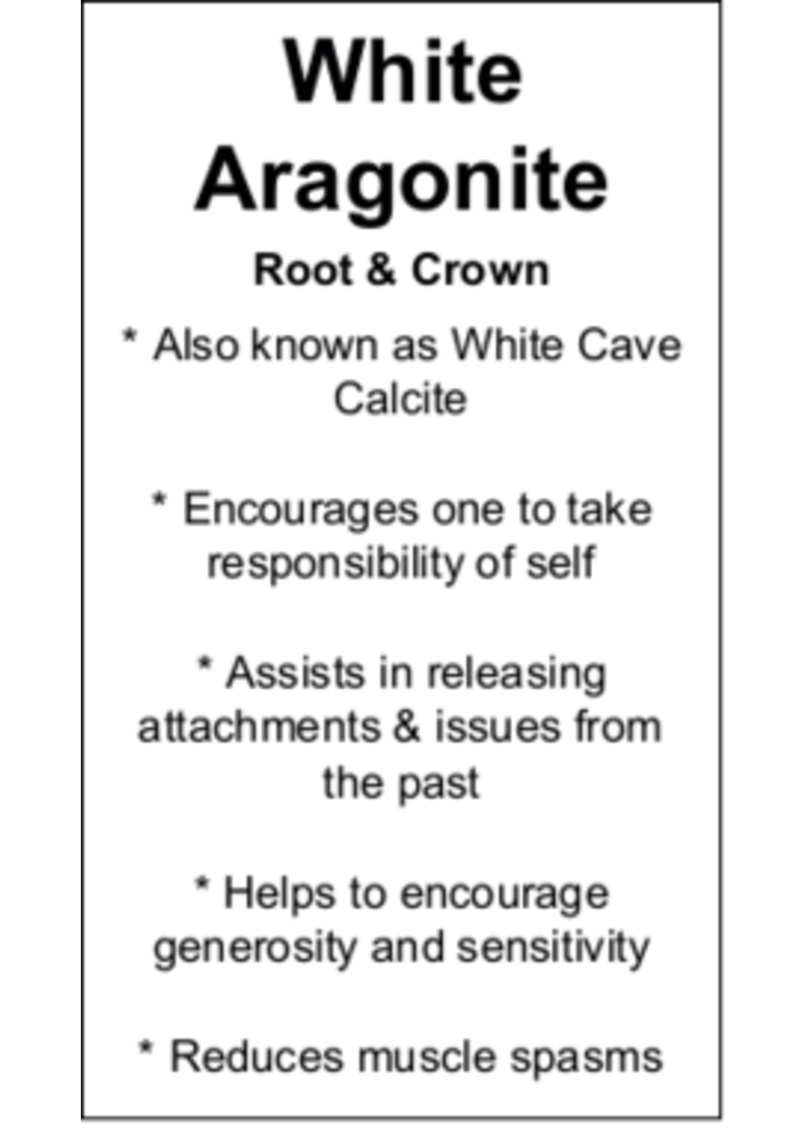 White Aragonite Cards - Box of 250