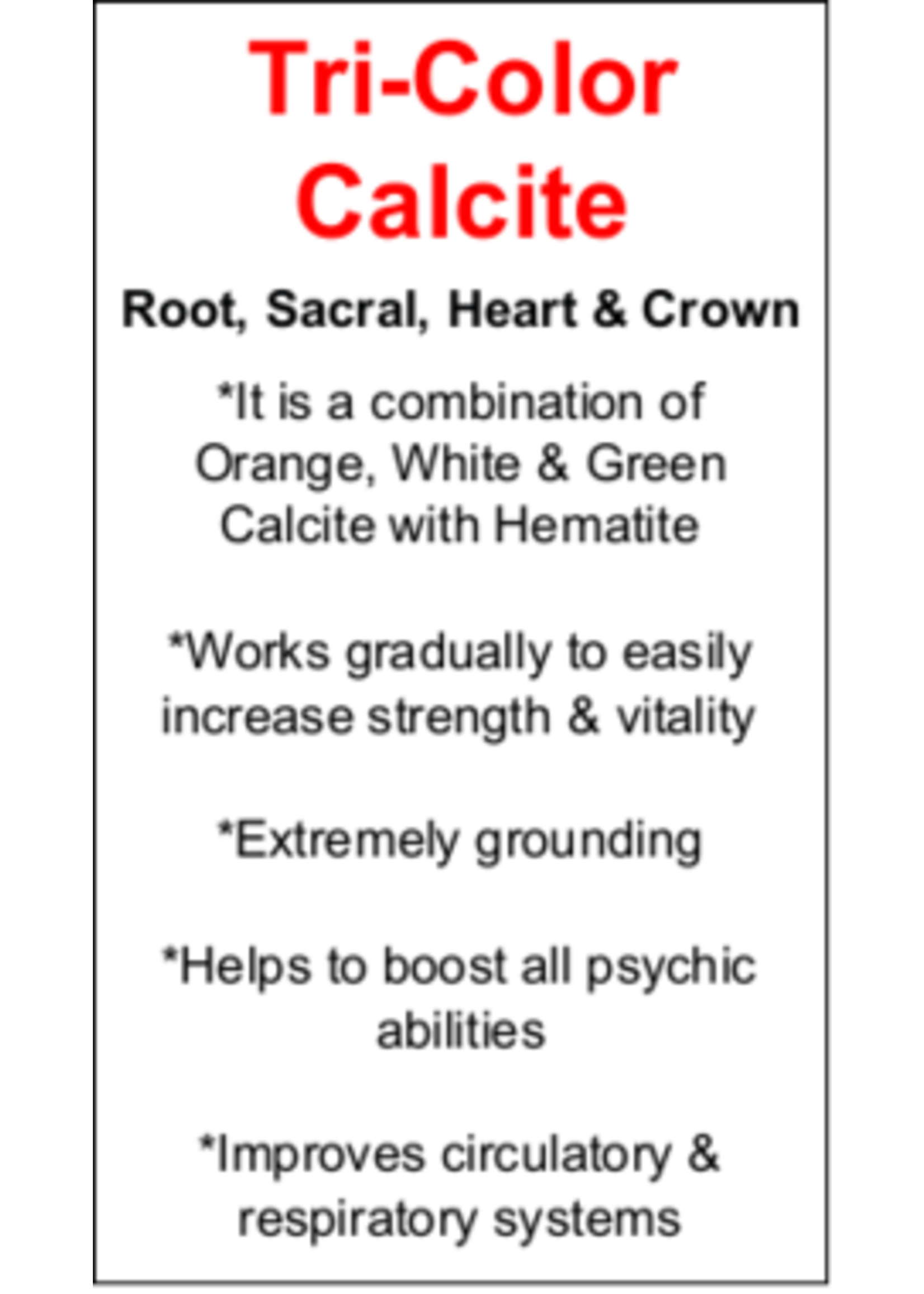 Tri-Color Calcite Cards - Box of 250