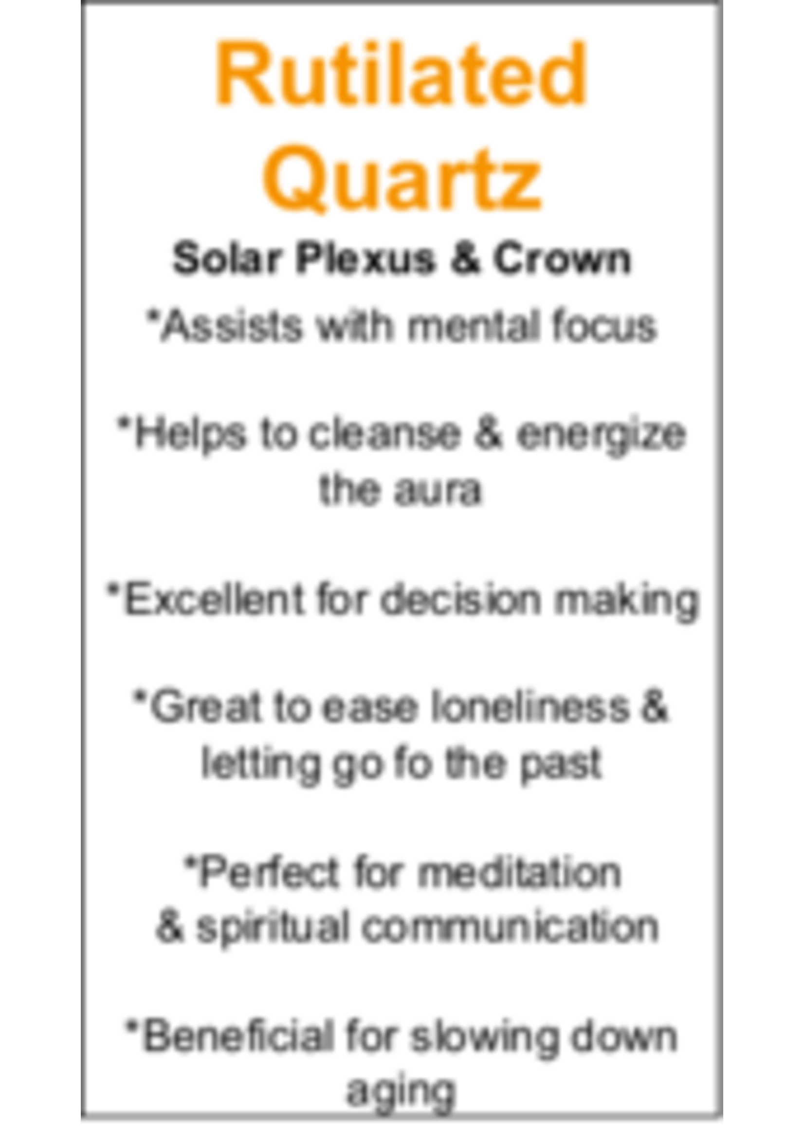 Rutilated Quartz Cards - Box of 250