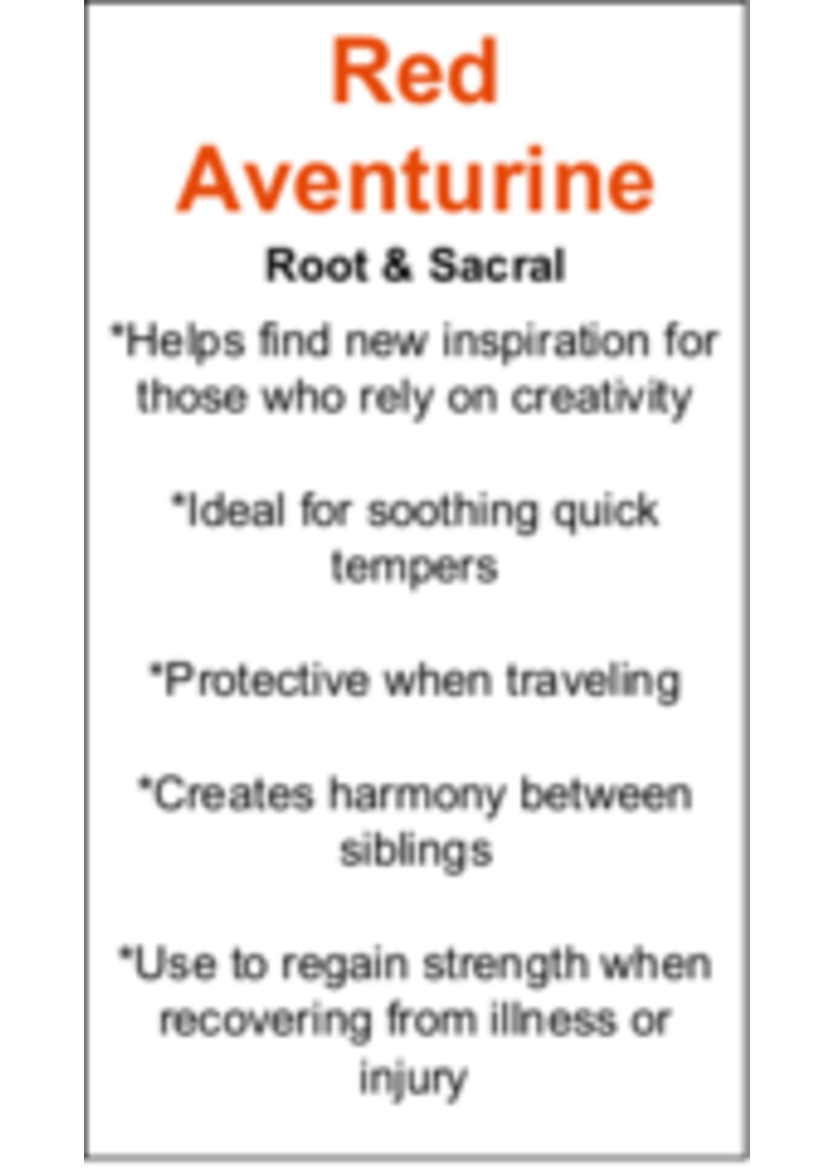 Red Aventurine Cards - Box of 250
