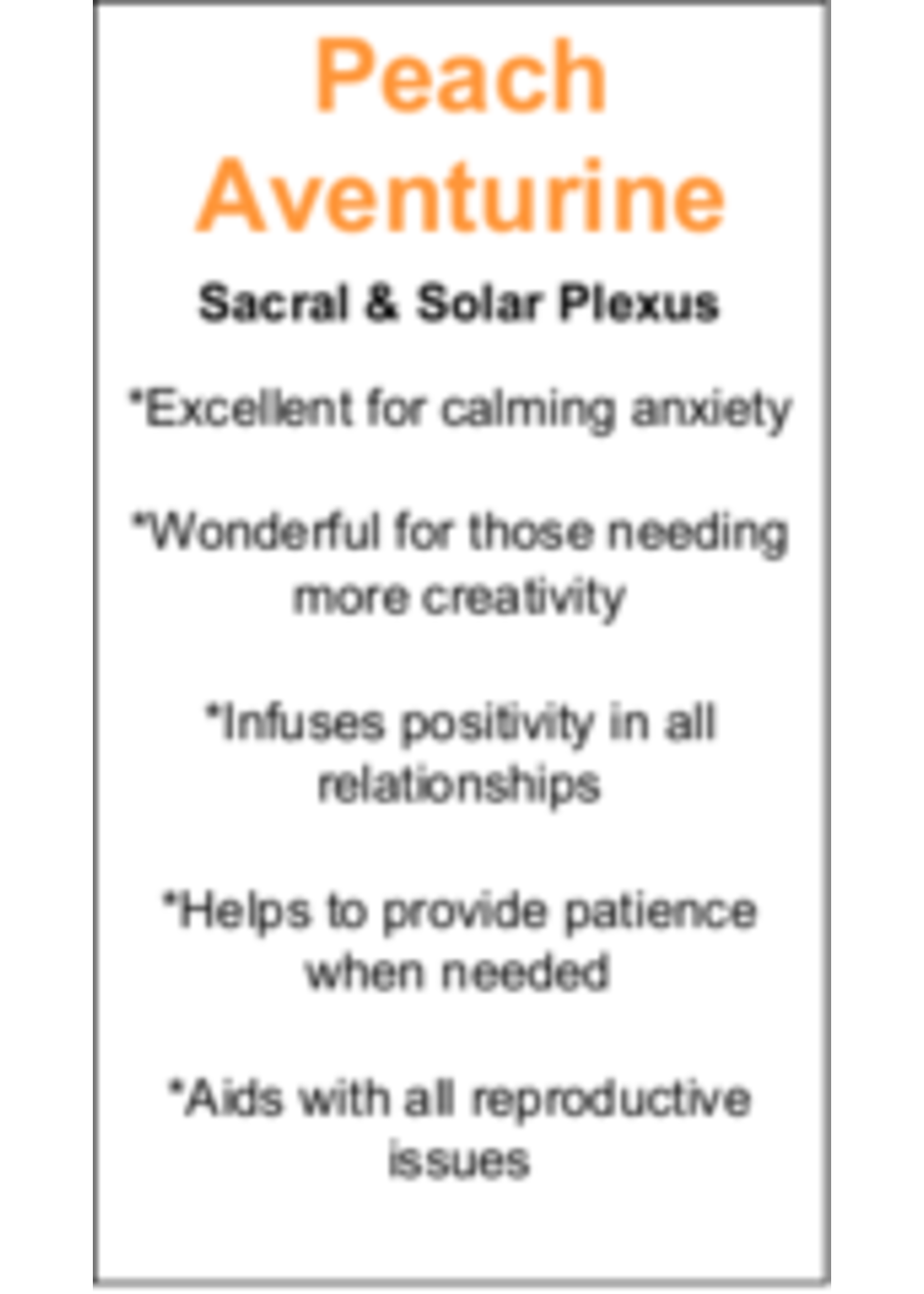 Peach Aventurine Cards - Box of 250