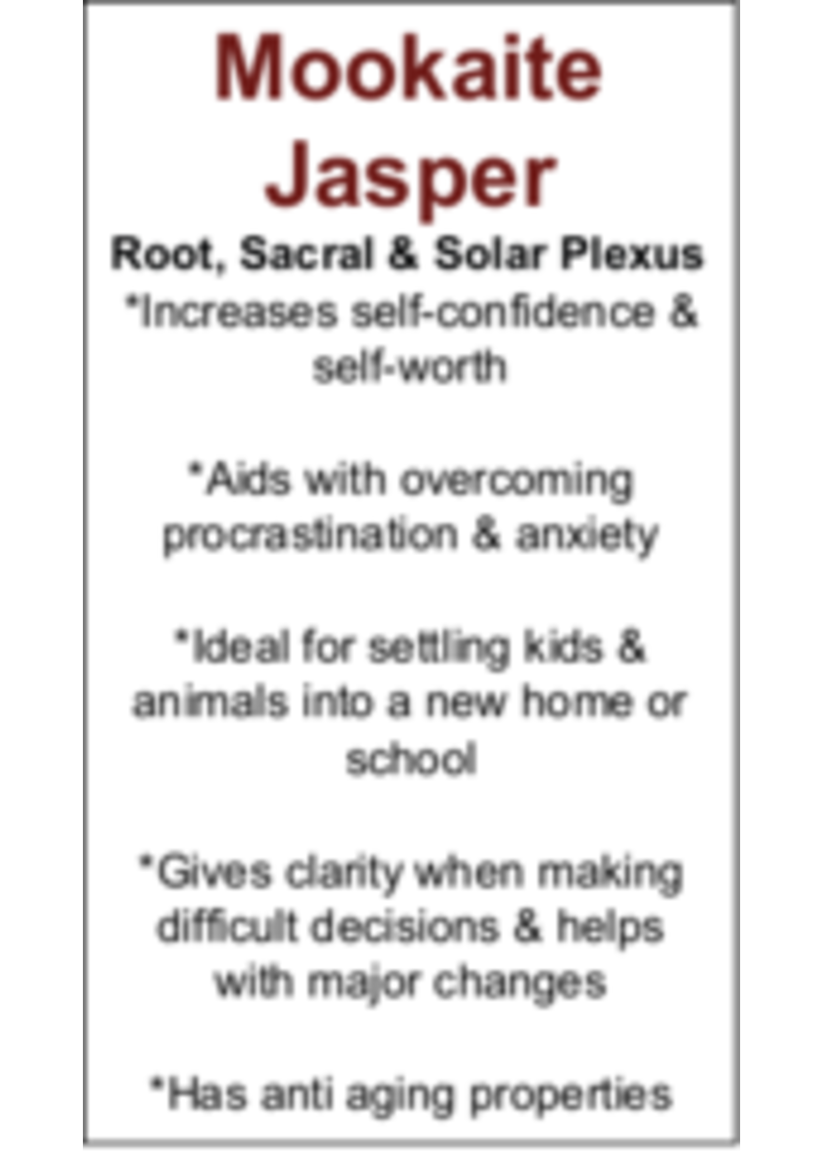 Mookaite Jasper Cards - Box of 250