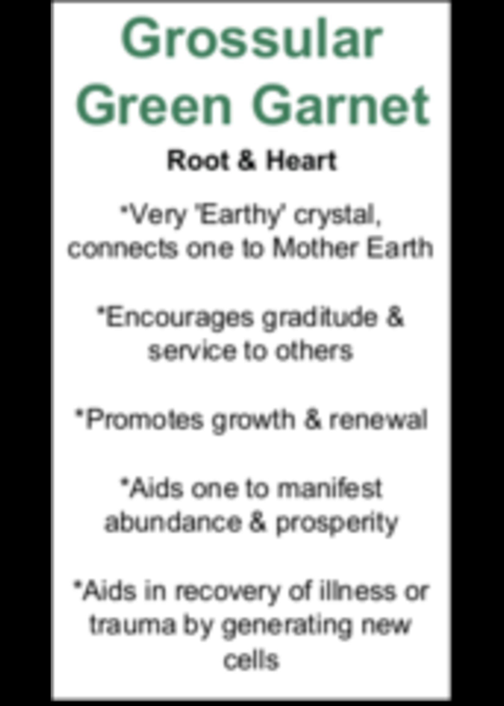 Grossular Green Garnet Cards - Box of 250