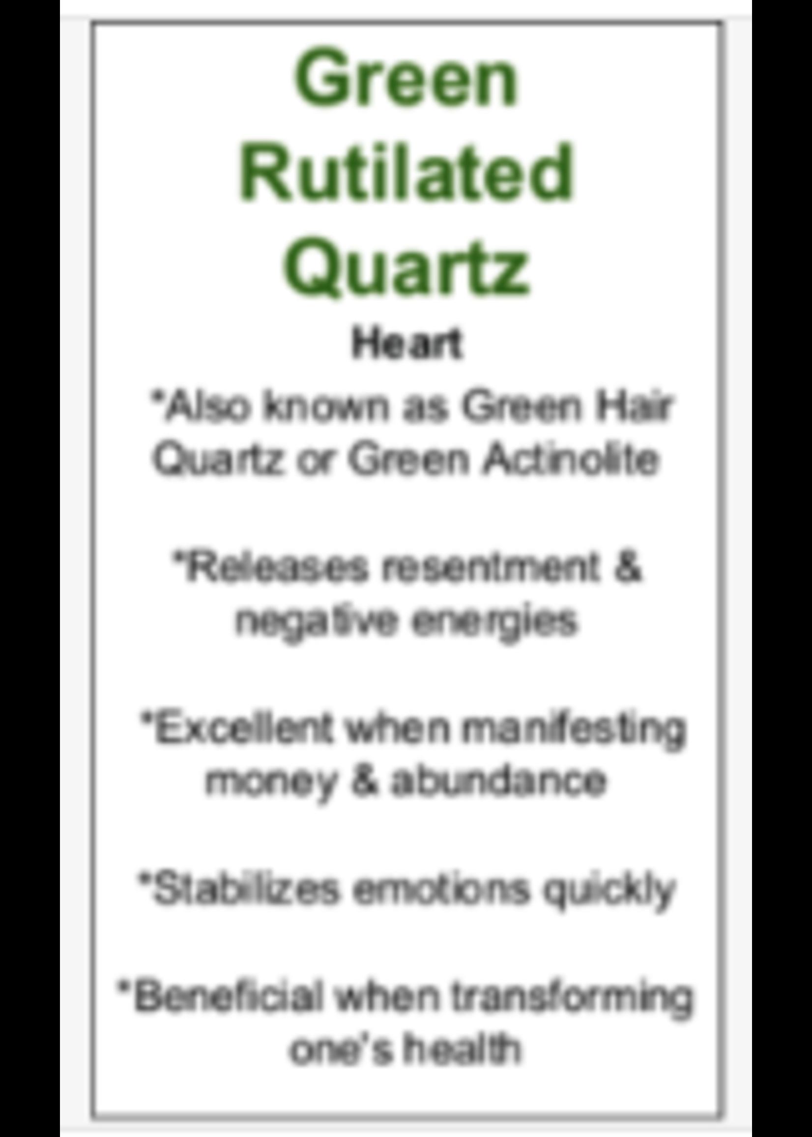 Green Rutilated Quartz Cards - Box of 250