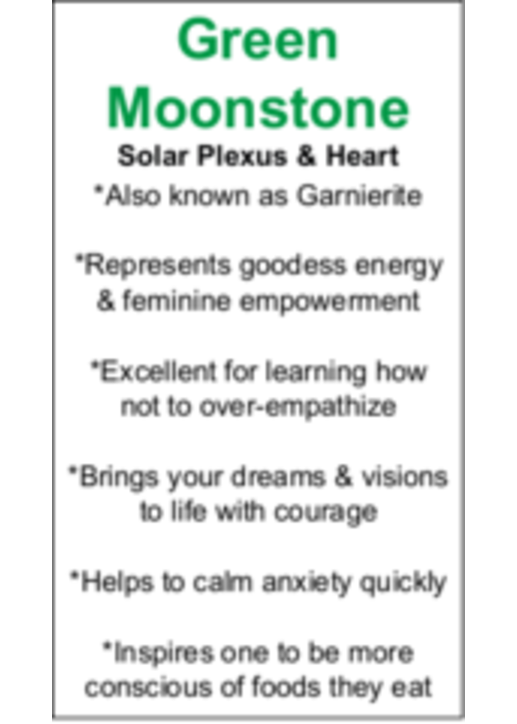 Green Moonstone Cards - Box of 250