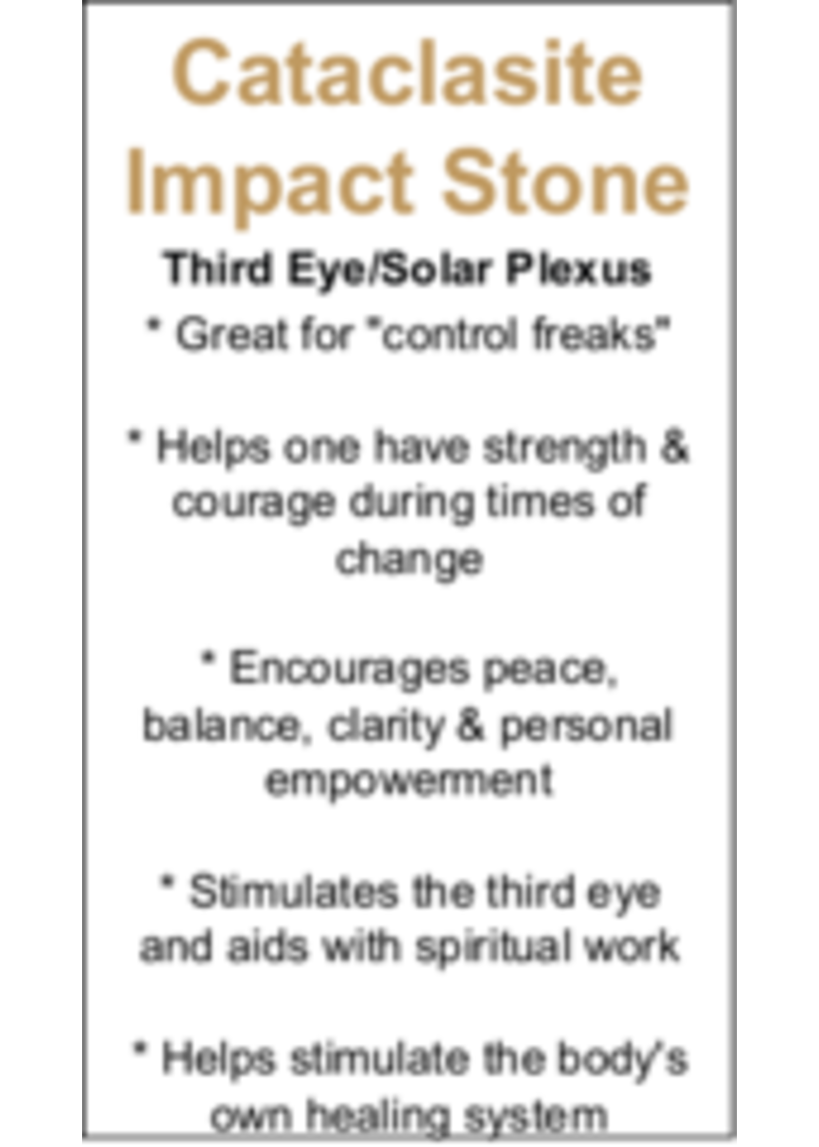 Cataclasite Impact Stone Cards - Box of 250