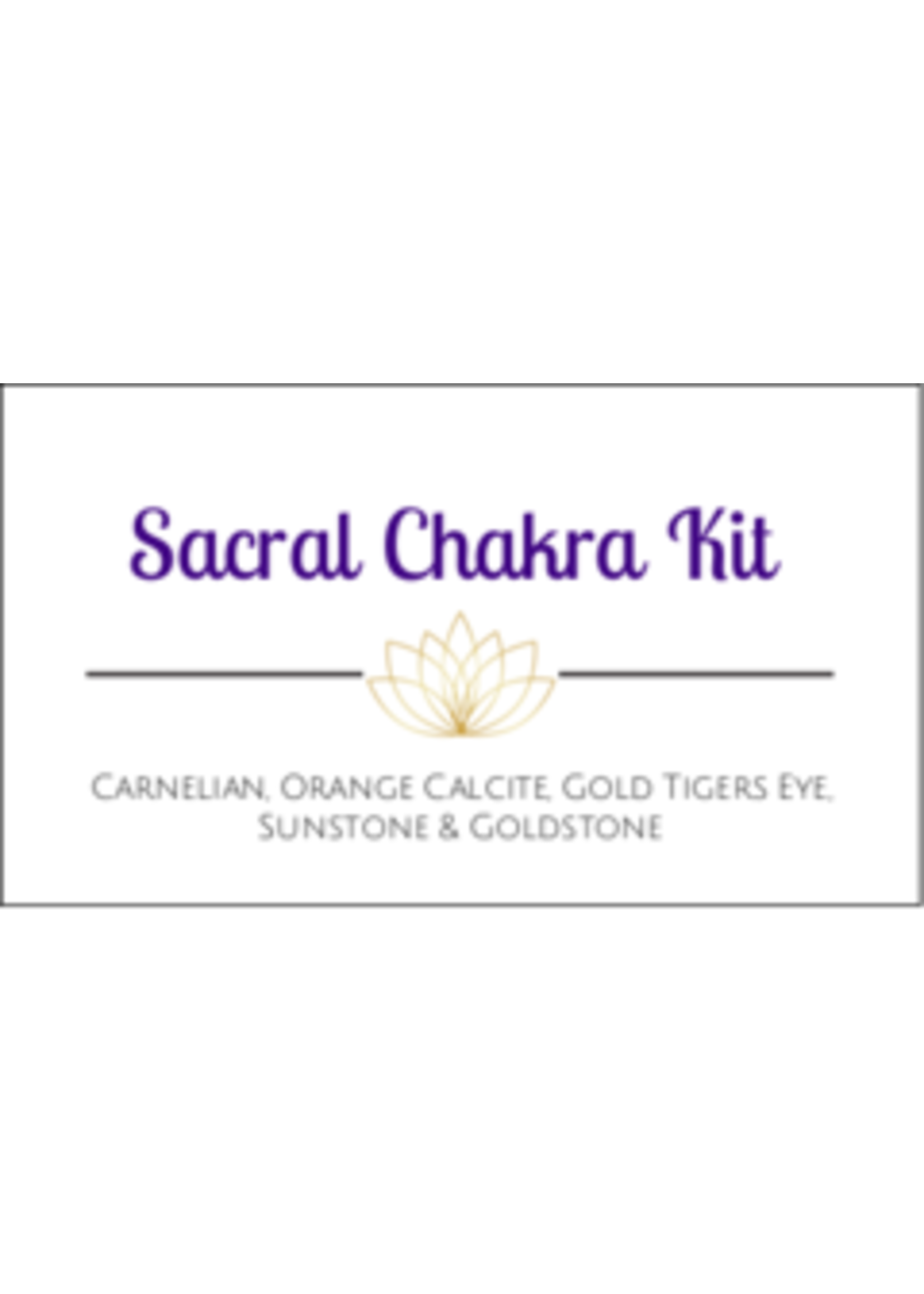 Sacral Chakra Crystal Kit Cards - Box of 100