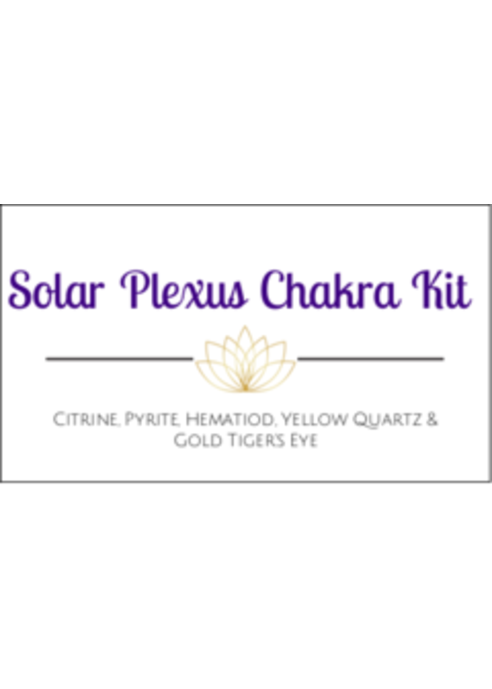 Solar Plexus Chakra Crystal Kit Cards - Box of 100