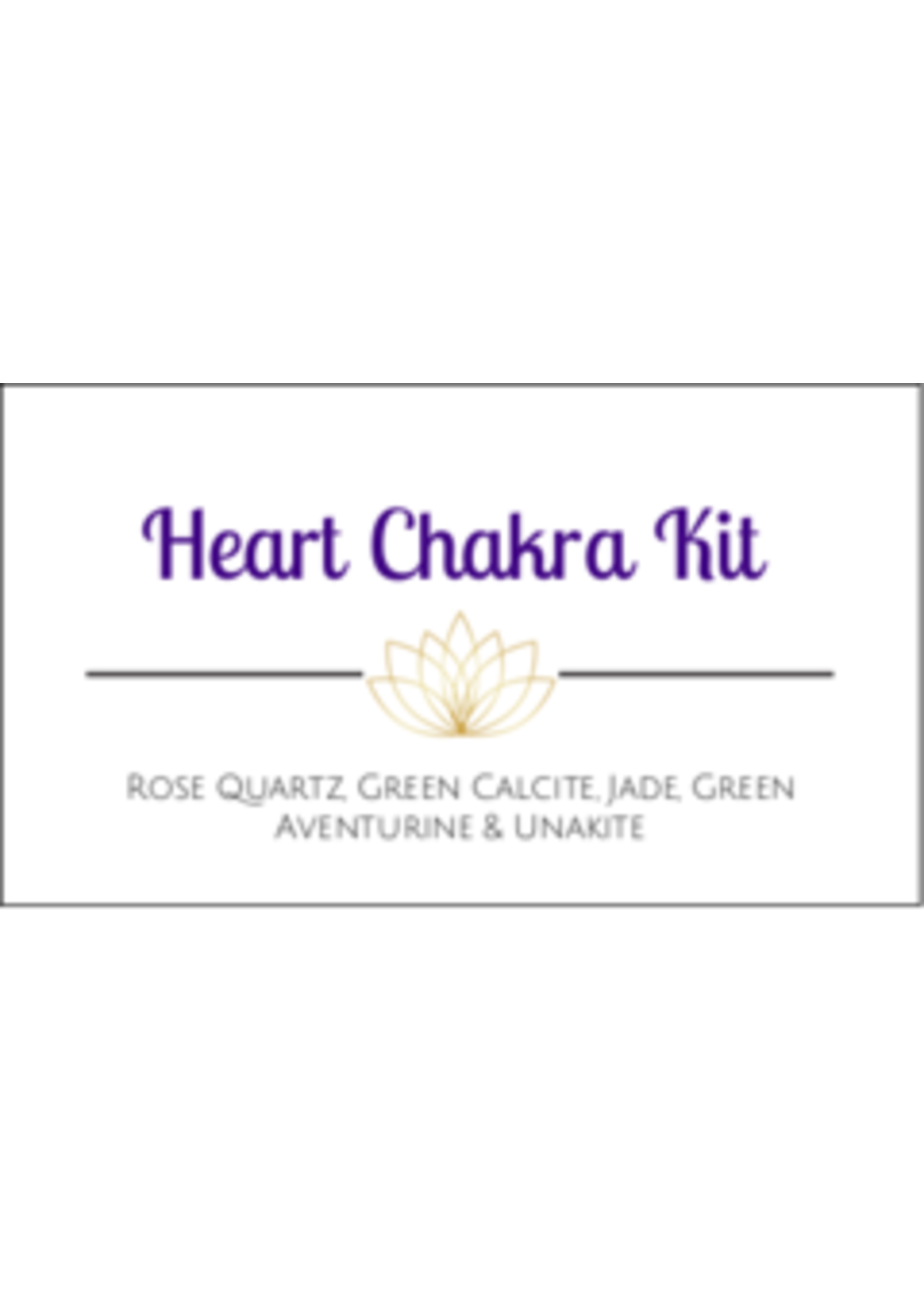 Heart Chakra Crystal Kit Cards - Box of 100