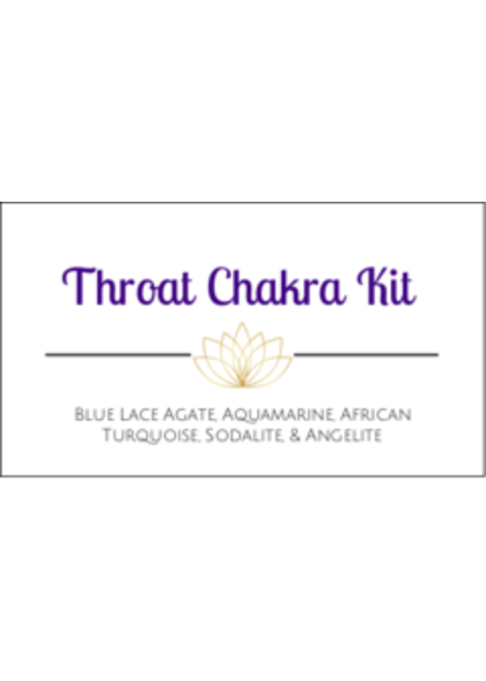 Throat Chakra Crystal Kit Cards - Box of 100