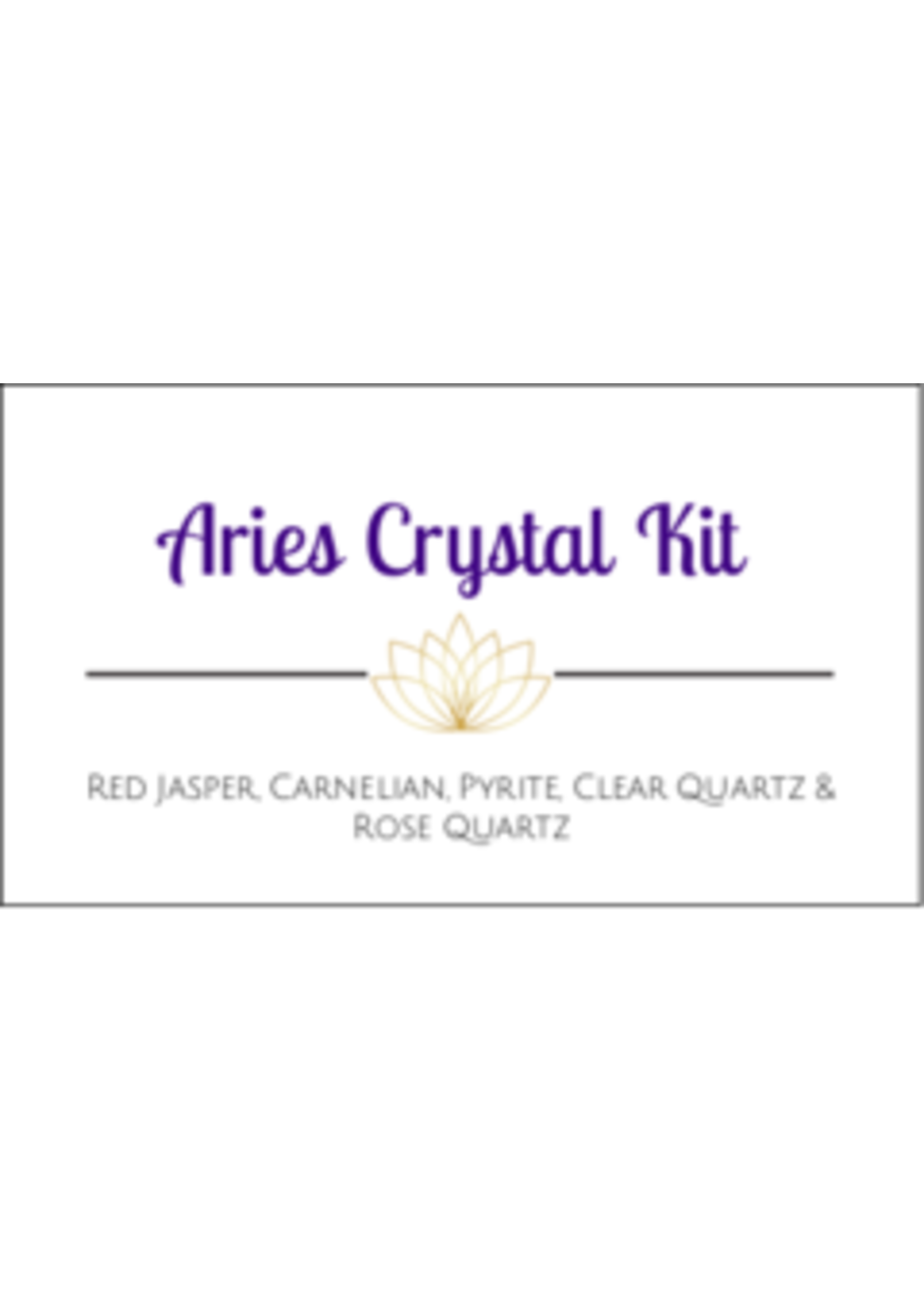 Aries Zodiac Crystal Kit Cards - Box of 100