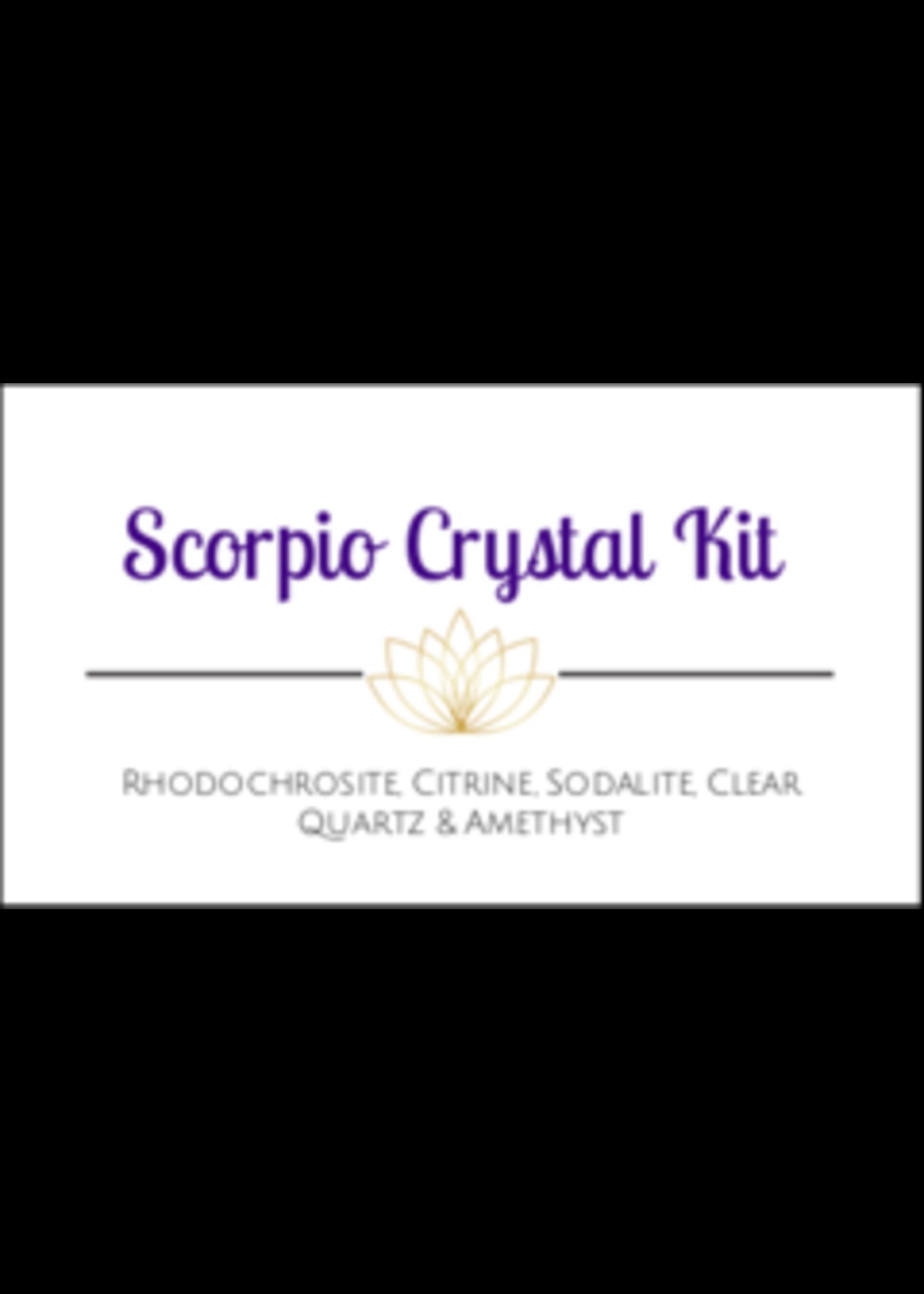 Scorpio Zodiac Crystal Kit Cards - Box of 100