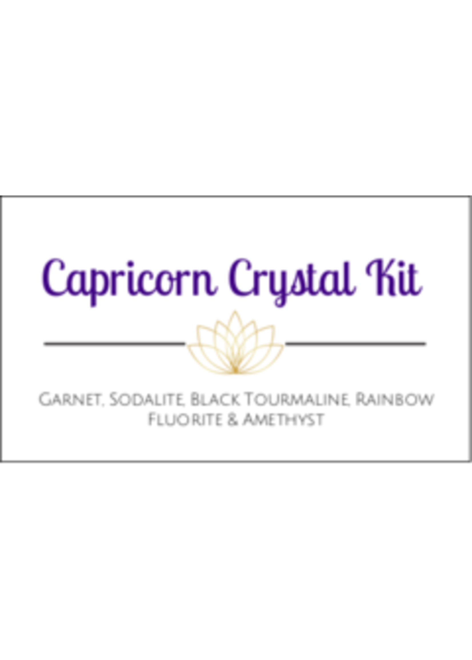 Capricorn Zodiac Crystal Kit Cards - Box of 100