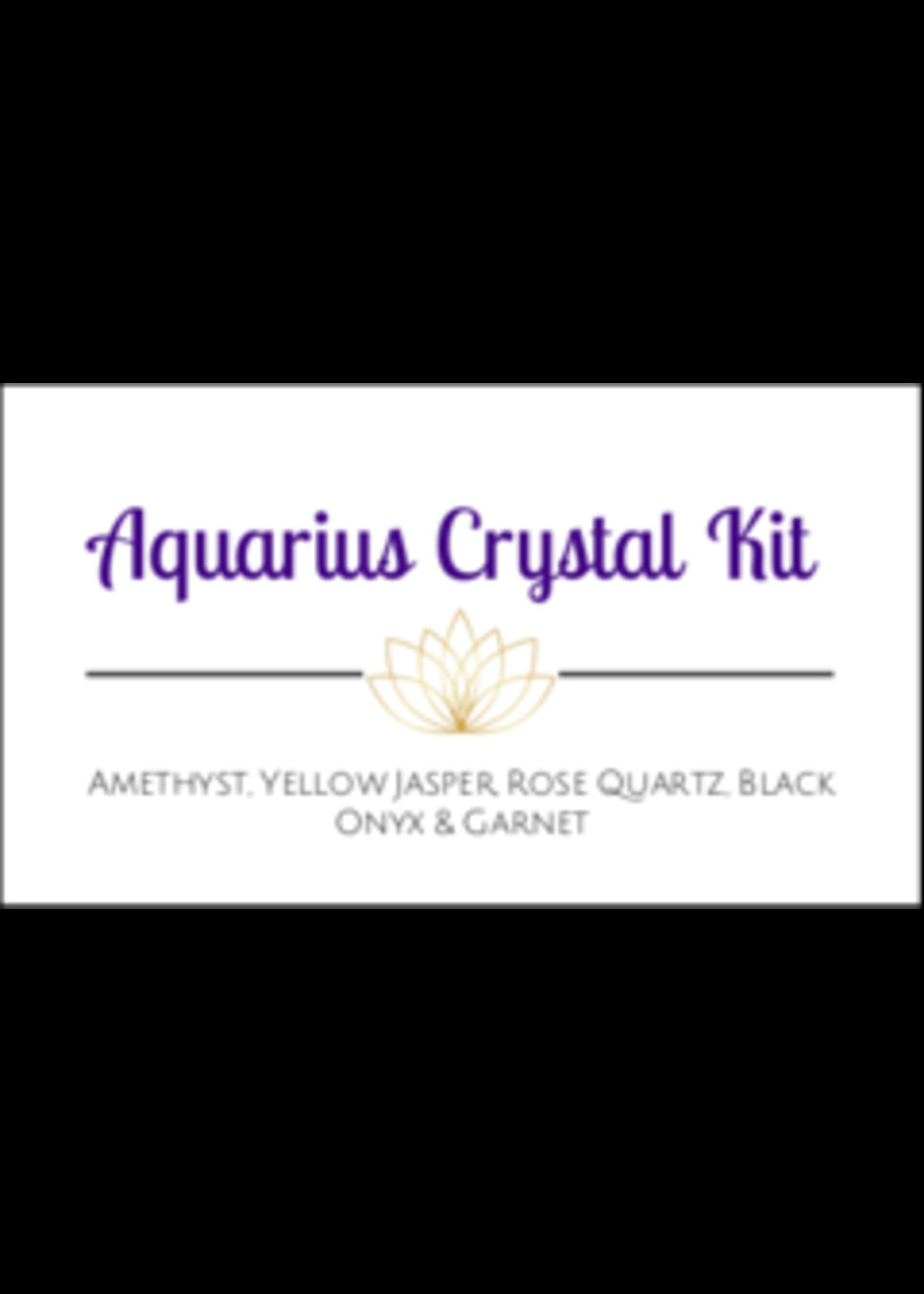 Aquarius Zodiac Crystal Kit Cards - Box of 100