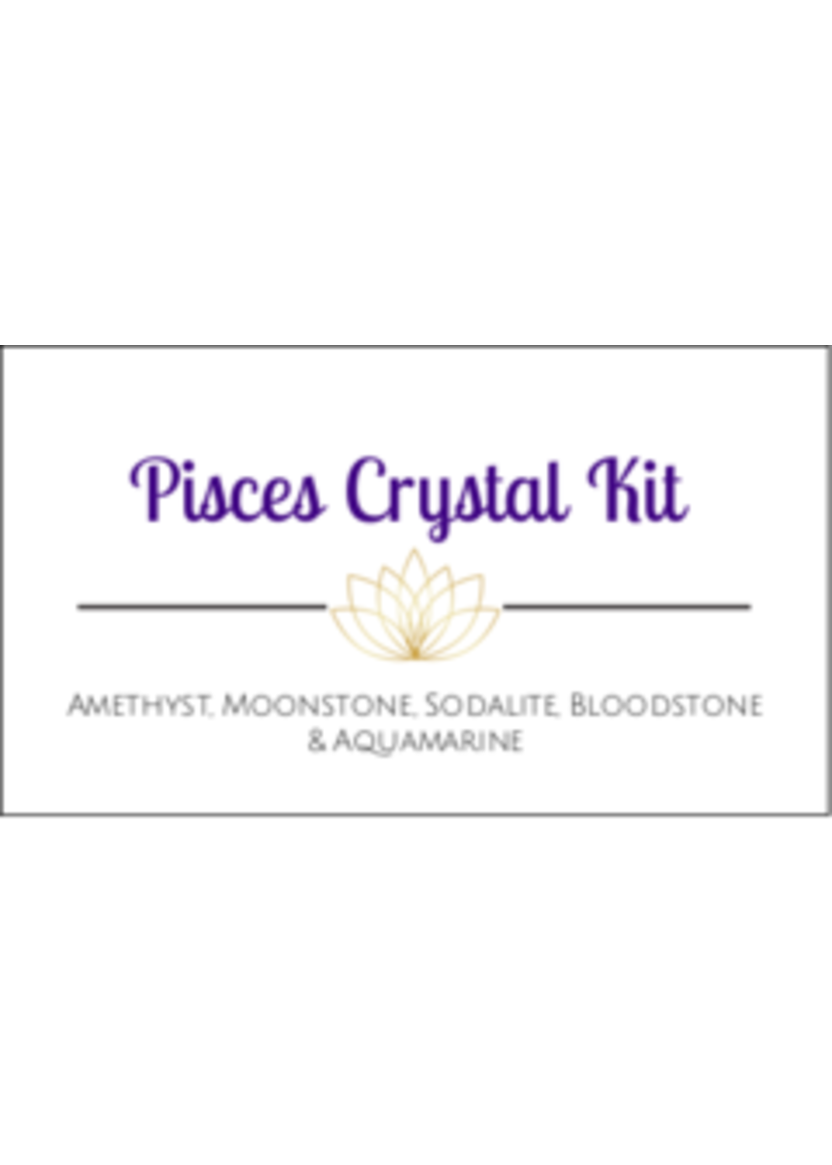 Pisces Zodiac Crystal Kit Cards - Box of 100
