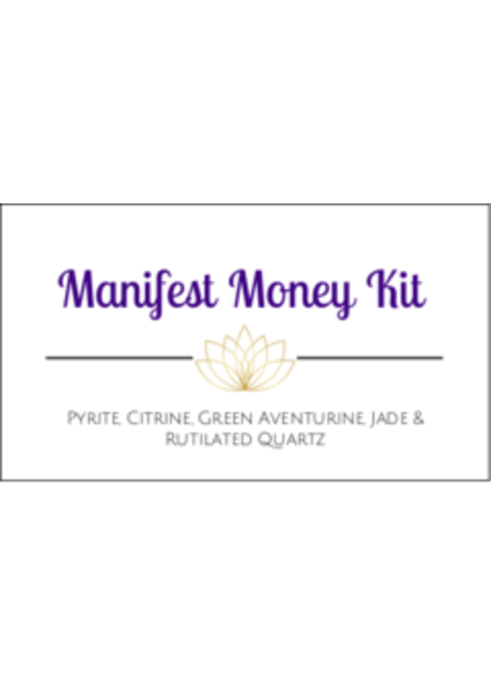 Manifest Money Crystal Kit Cards - Box of 100