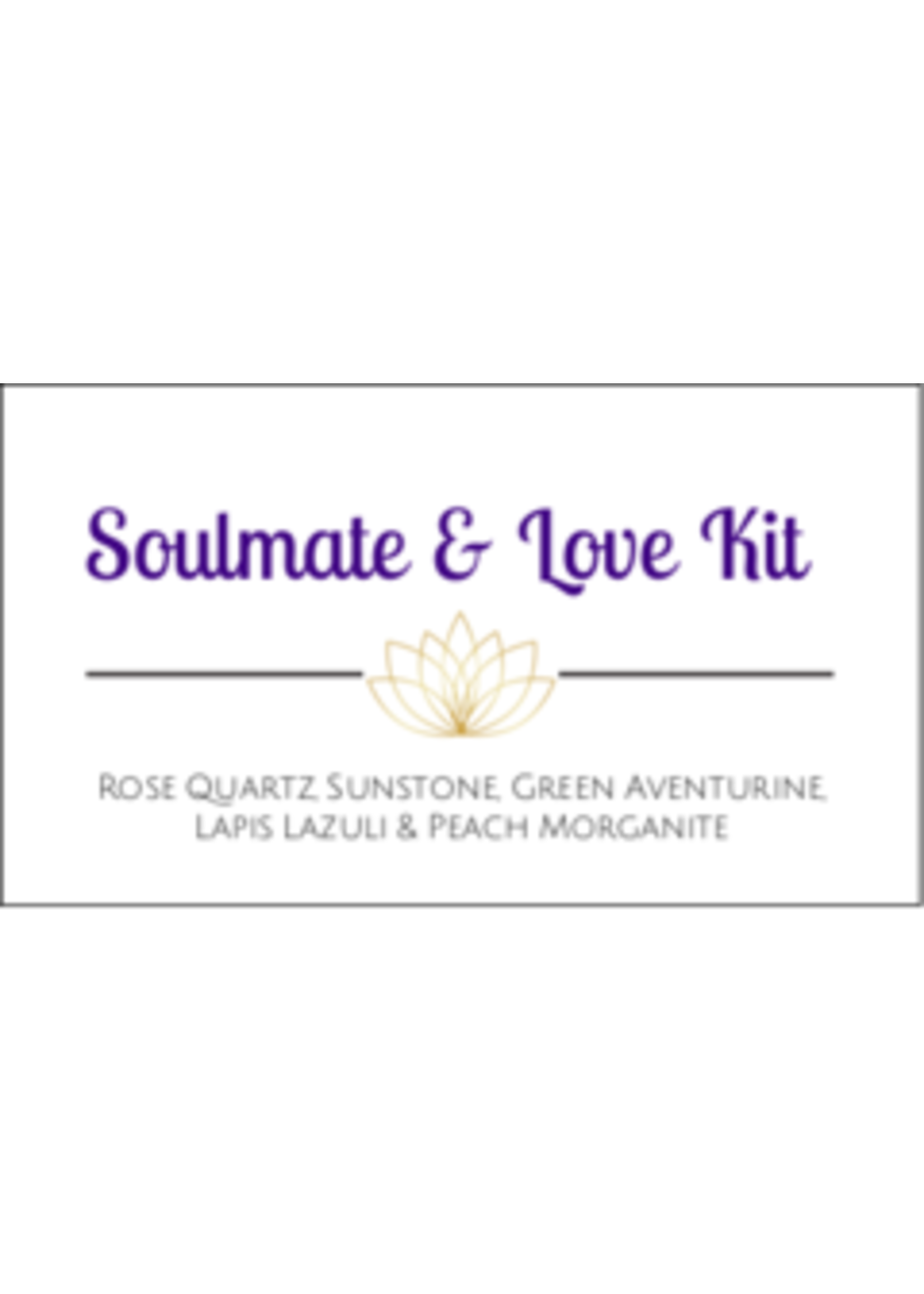 Soulmate & Love Crystal Kit Cards - Box of 100