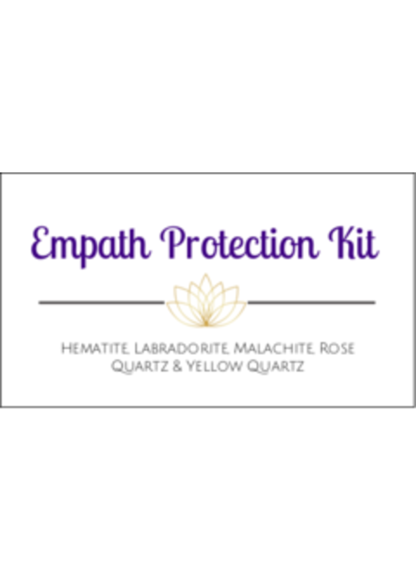Empath Protection Crystal Kit Cards - Box of 100