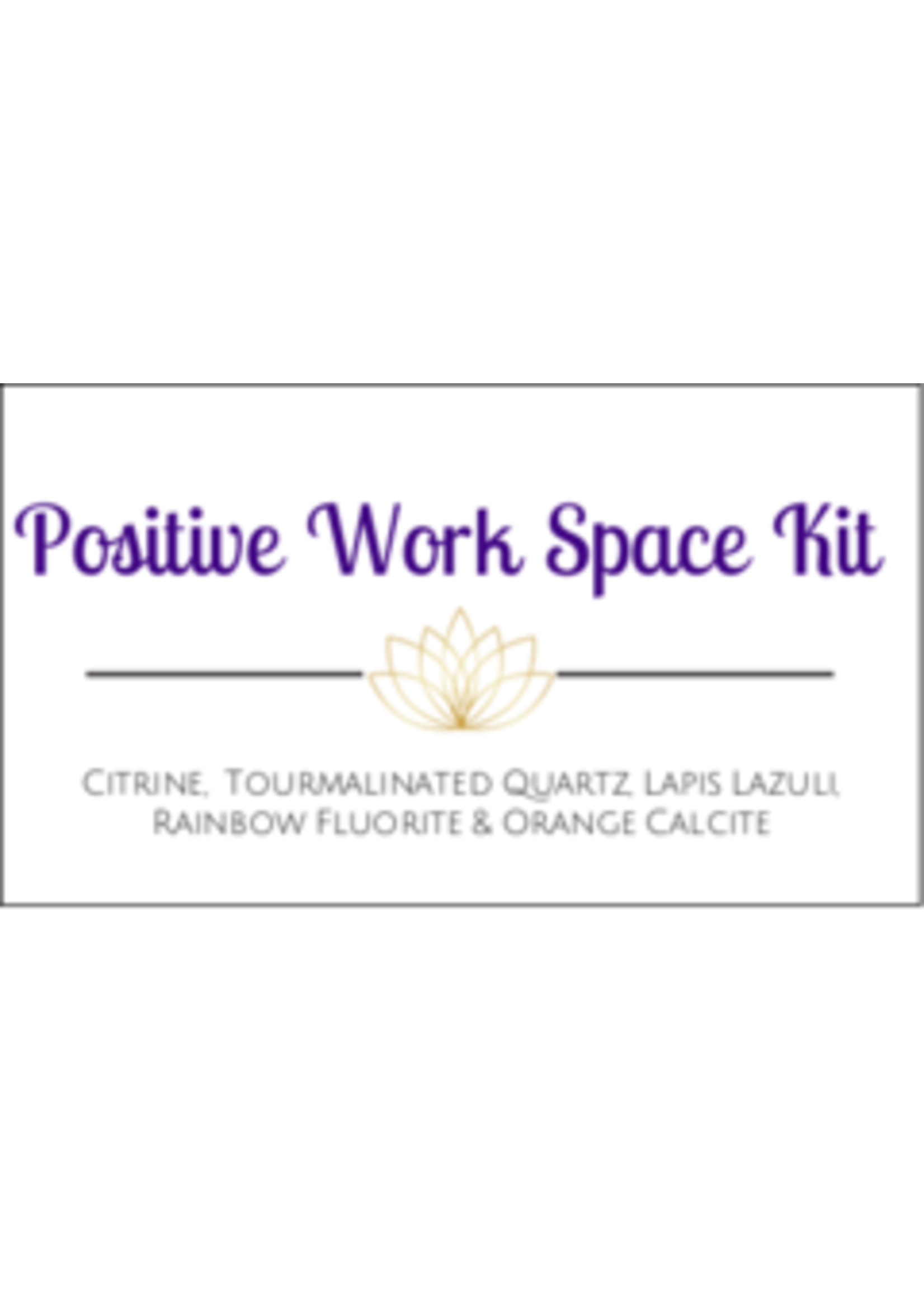 Positive Work Space Crystal Kit Cards - Box of 100