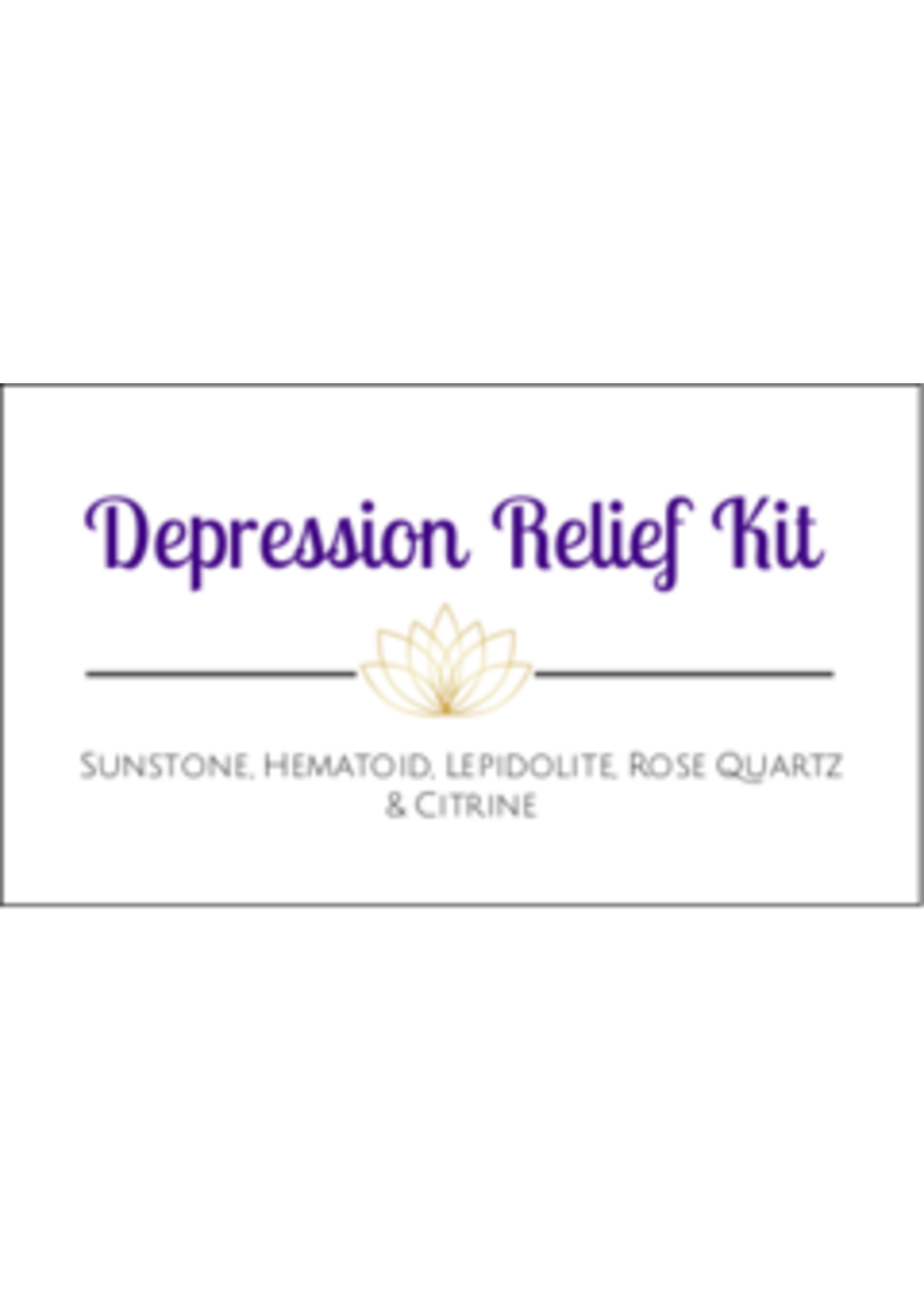 Depression Relief Crystal Kit Cards - Box of 100