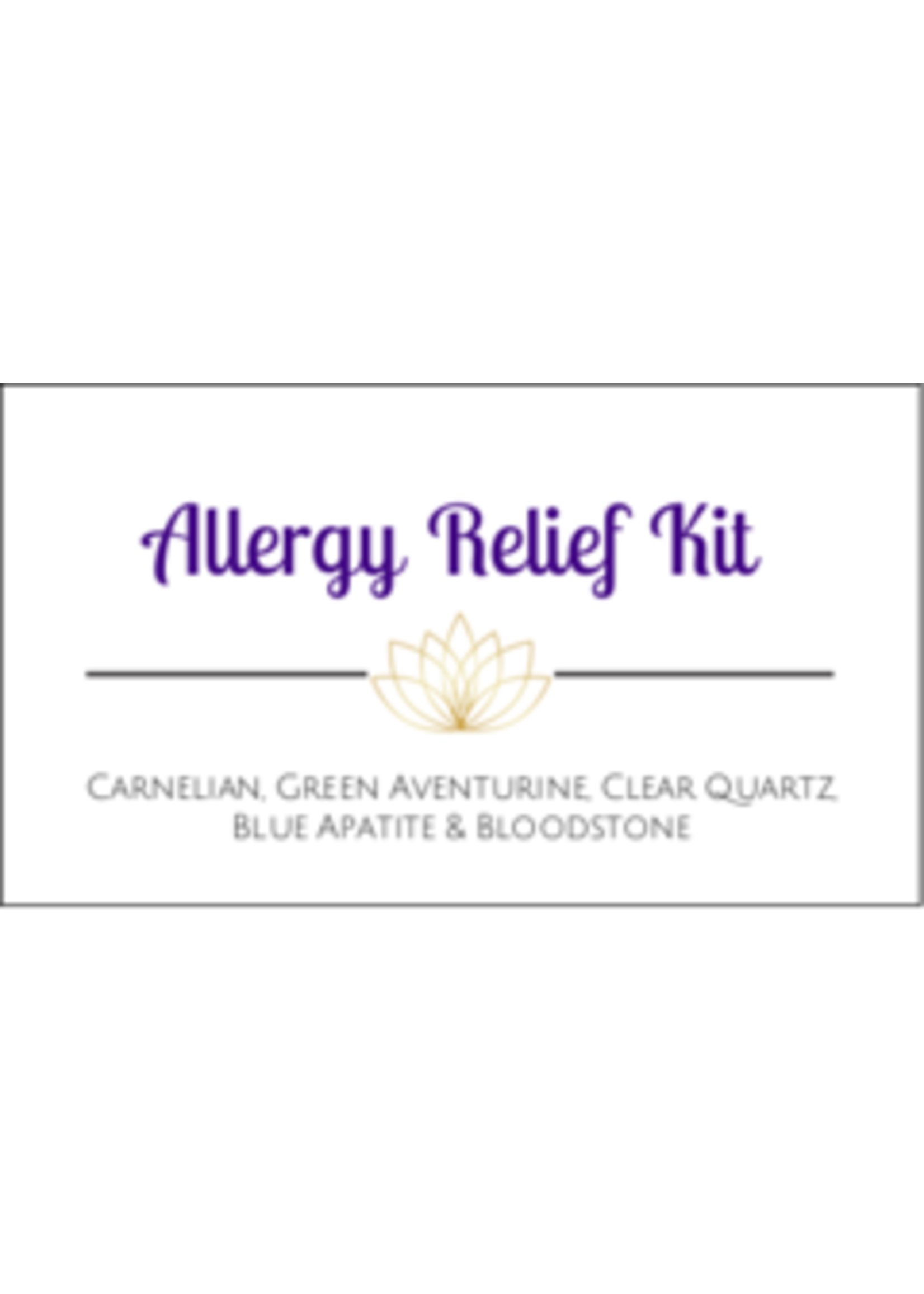 Allergy Relief Crystal Kit Cards - Box of 100