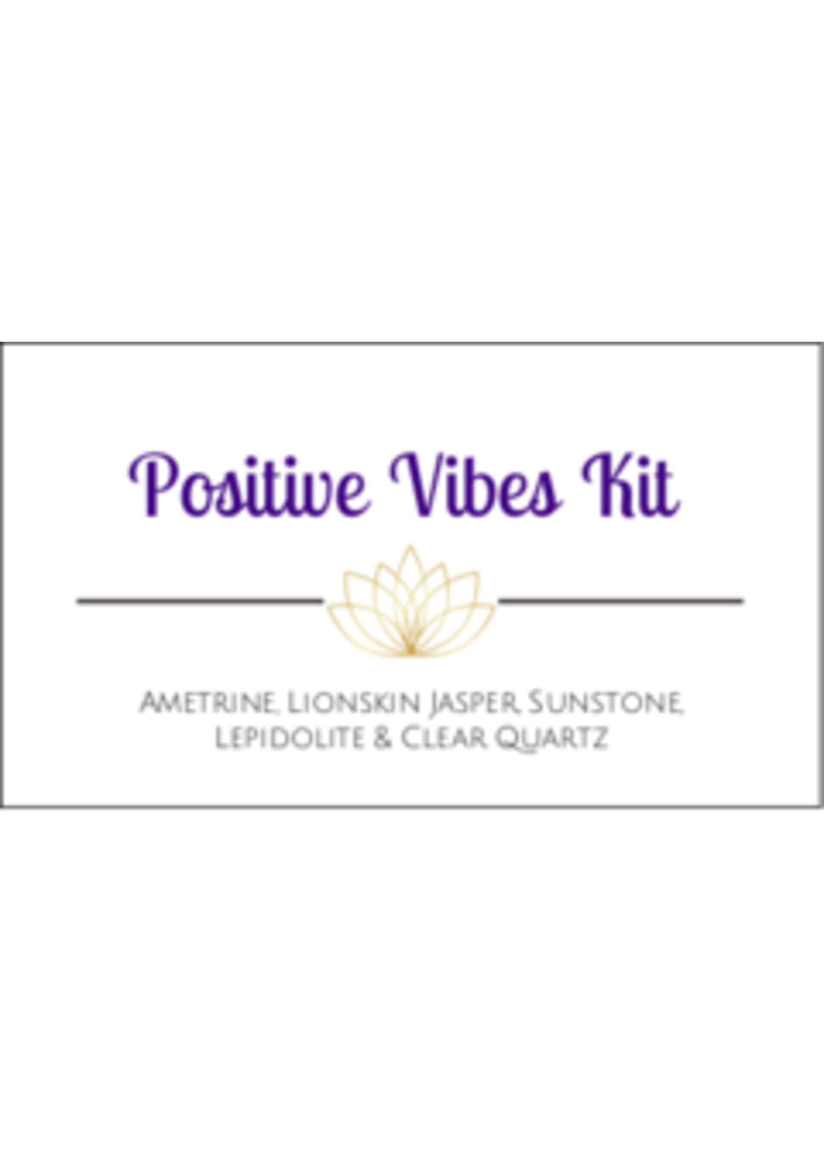 Positive Vibes Crystal Kit Cards - Box of 100