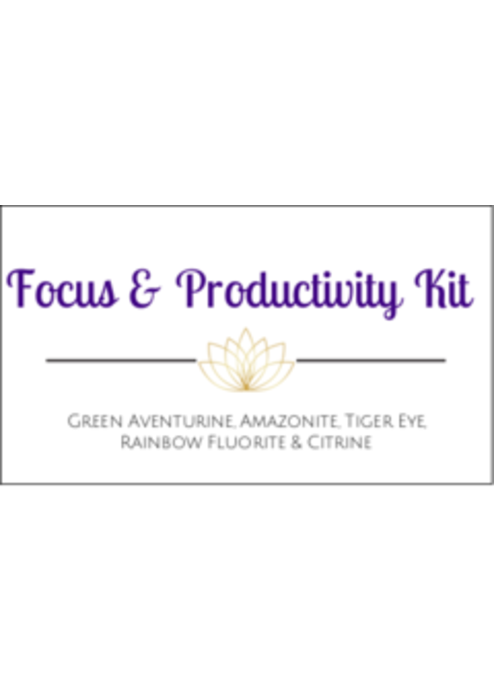 Focus & Productivity Crystal Kit Cards - Box of 100