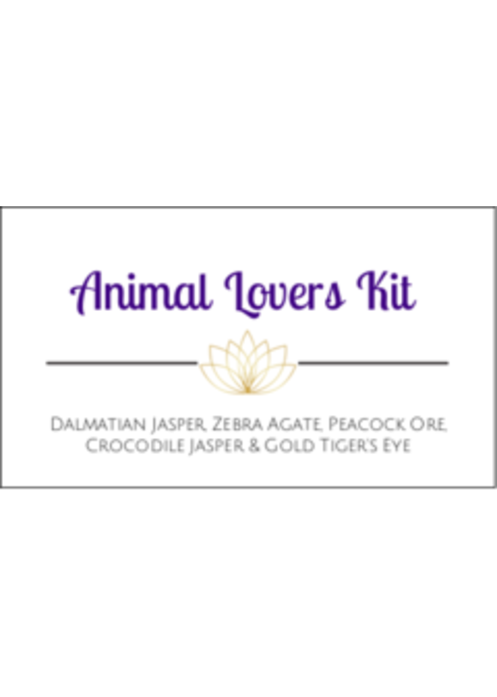 Animal Lovers Crystal Kit Cards - Box of 100