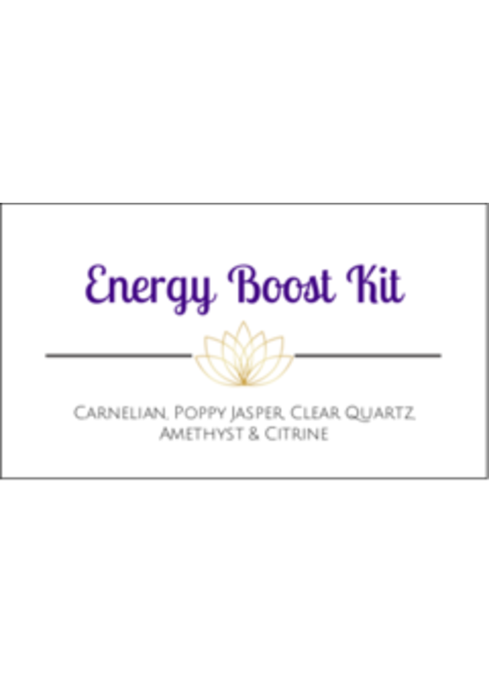 Energy Boost Crystal Kit Cards - Box of 100