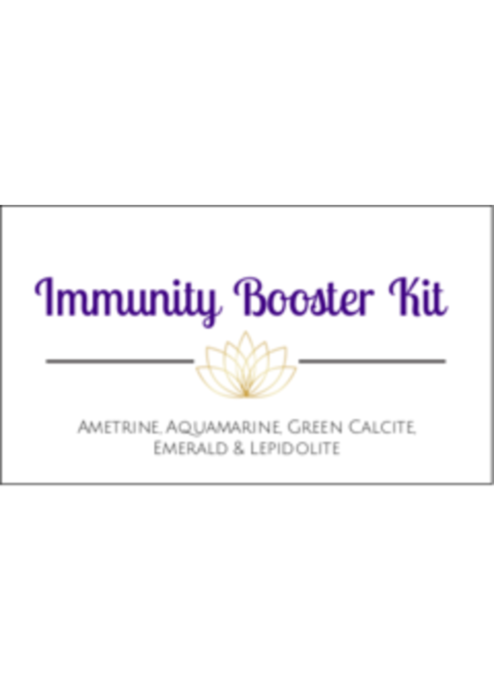 Immunity Booster Crystal Kit Cards - Box of 100