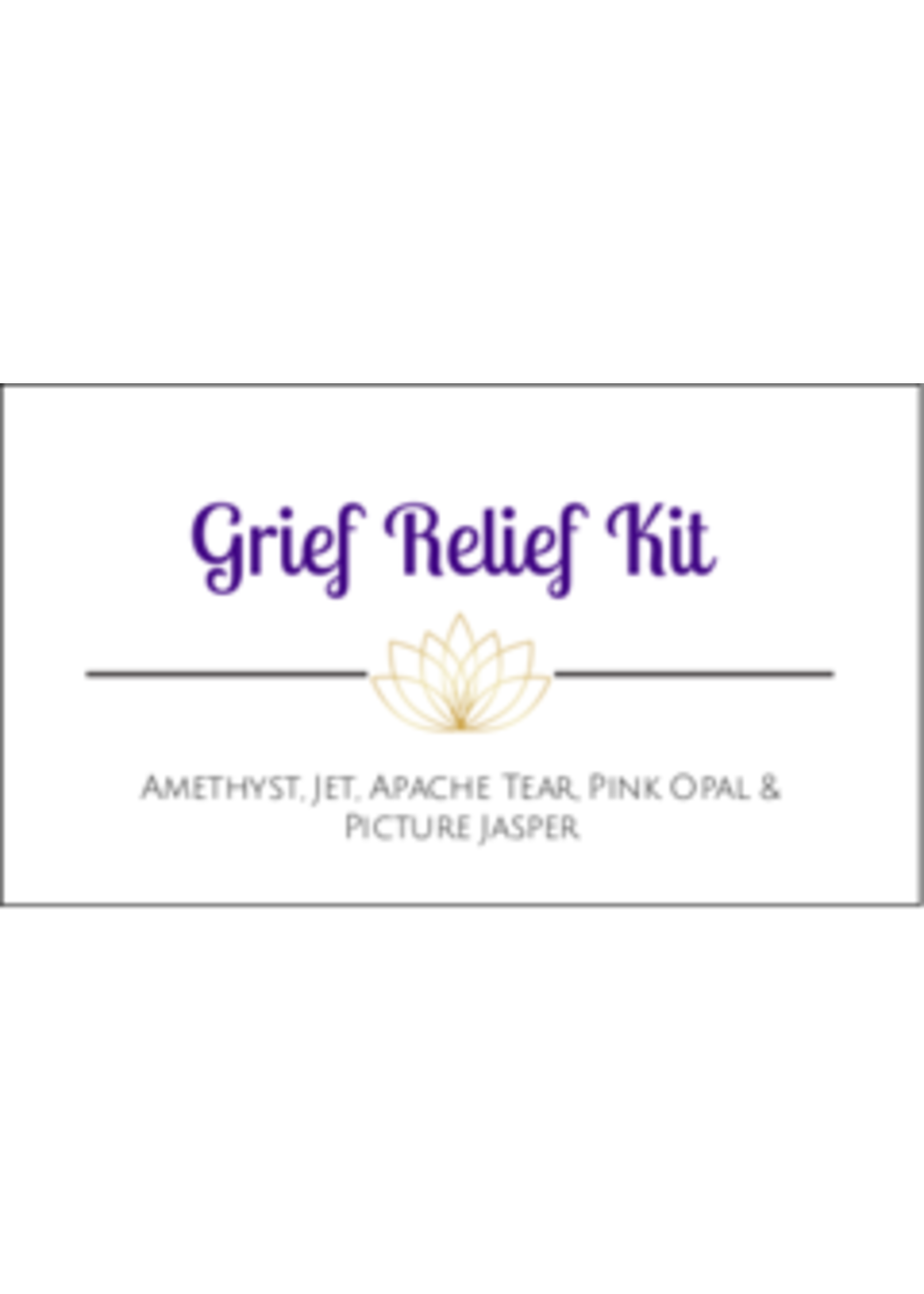 Grief Relief Crystal Kit Cards - Box of 100
