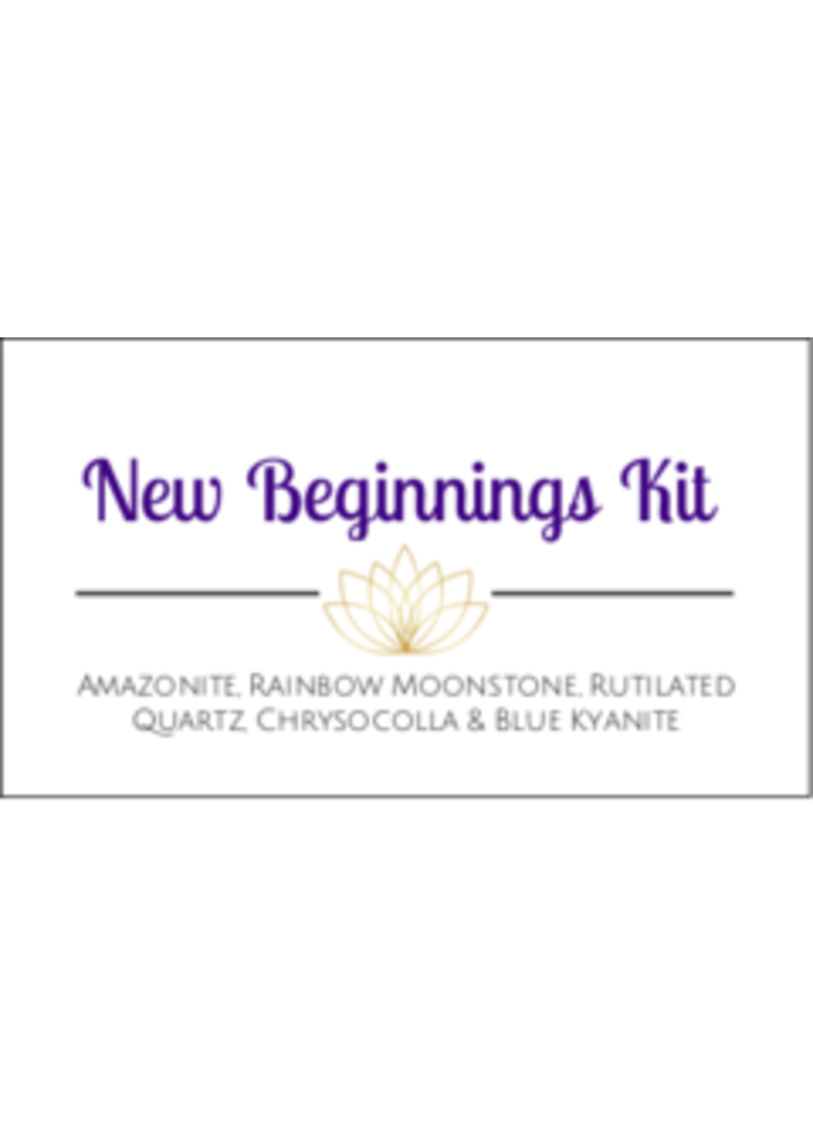 New Beginnings Crystal Kit Cards - Box of 100