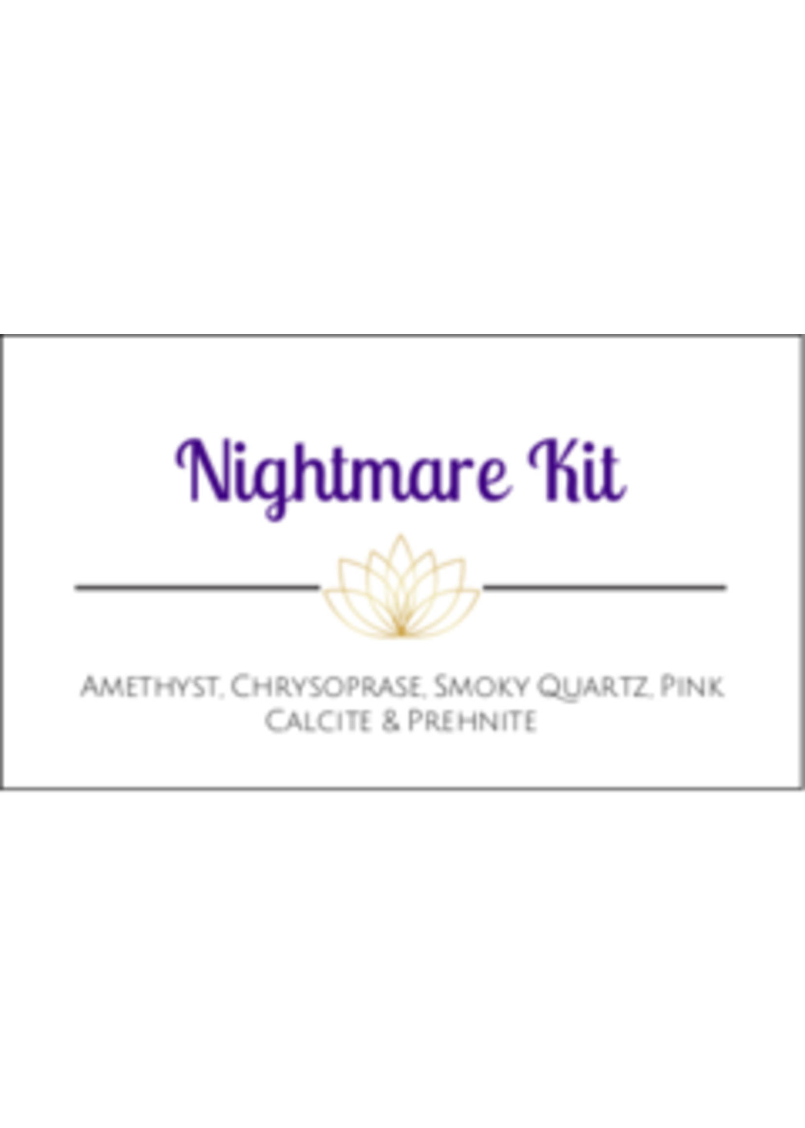Nightmare Crystal Kit Cards - Box of 100