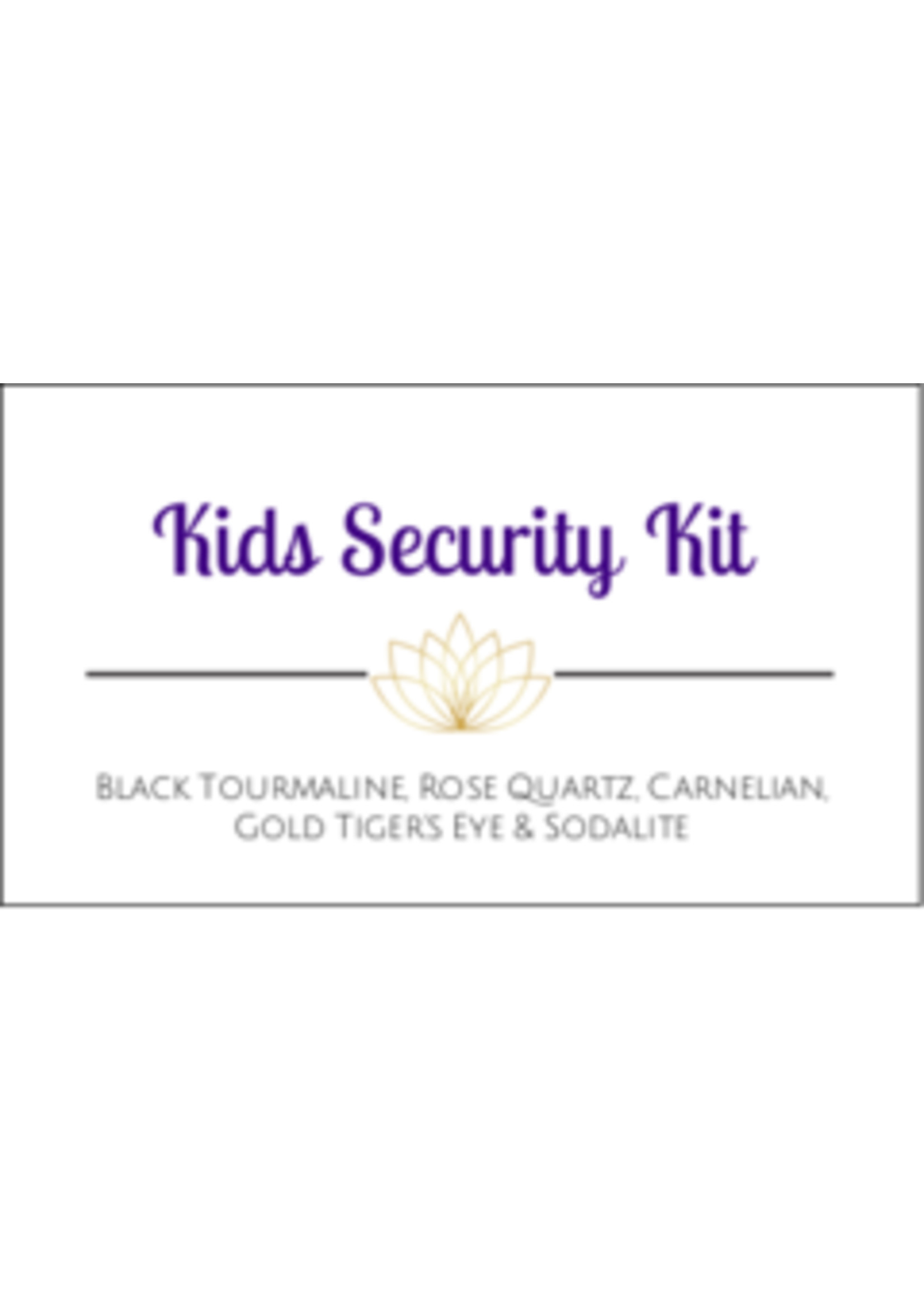 Kids Security Crystal Kit Cards - Box of 100