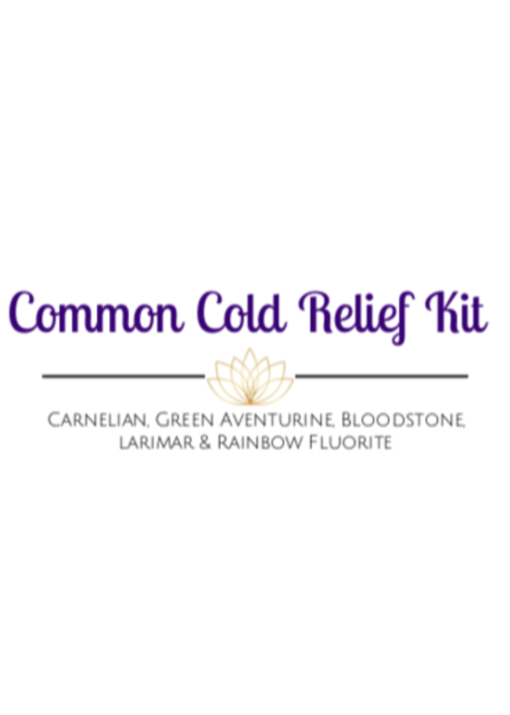 Common Cold Relief Crystal Kit Cards - Box of 100