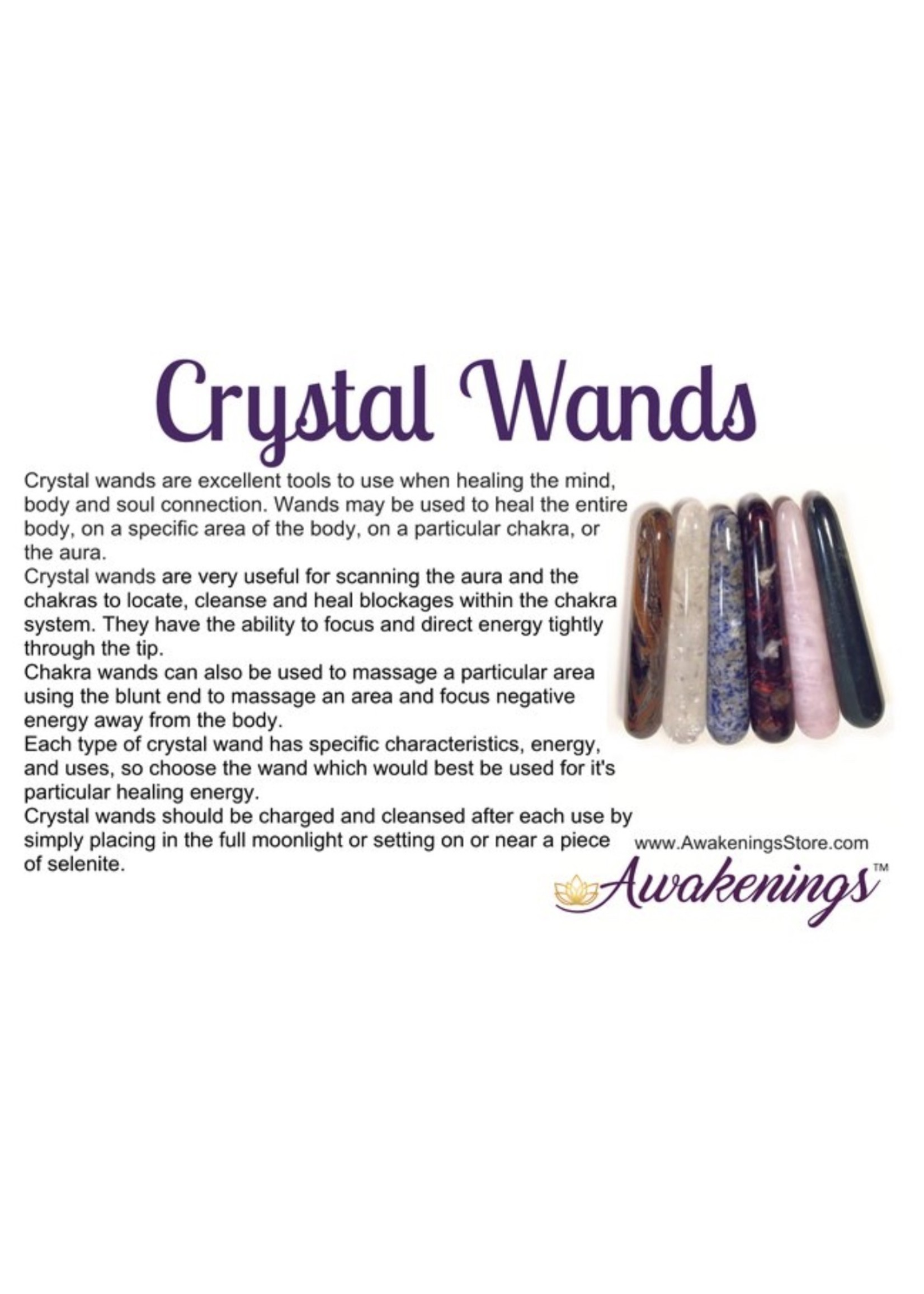 Crystal Wands Cards - Box of 500